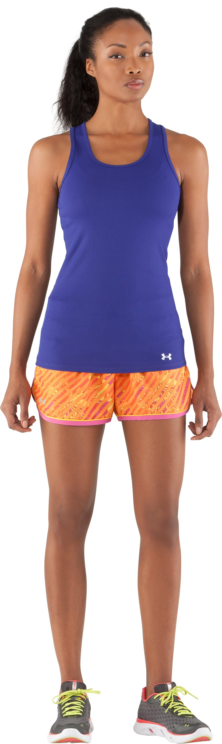 Women's UA Great Escape Printed Shorts II, Maize, Front