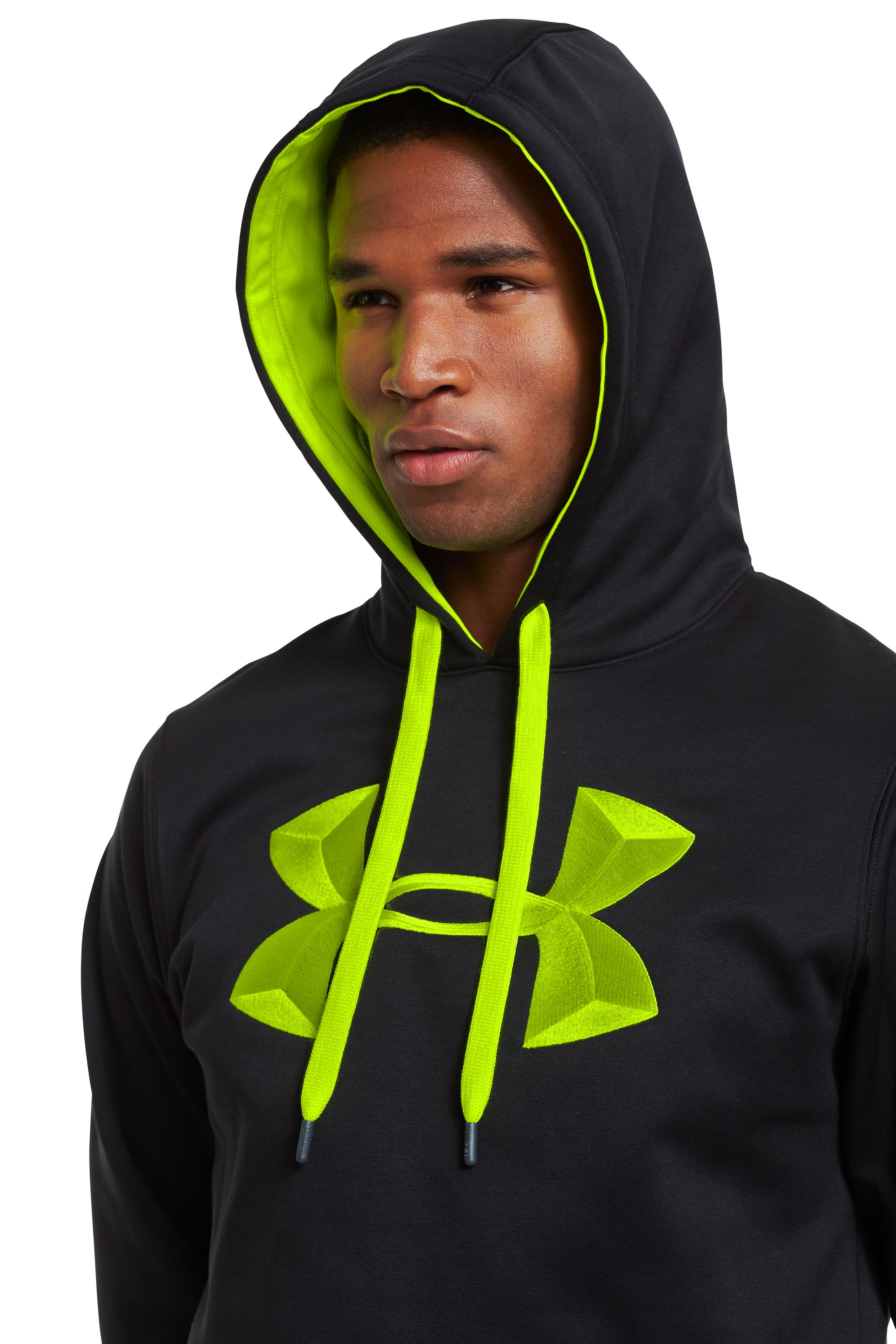 Men's Armour® Fleece 3D Big Logo Hoodie, Black
