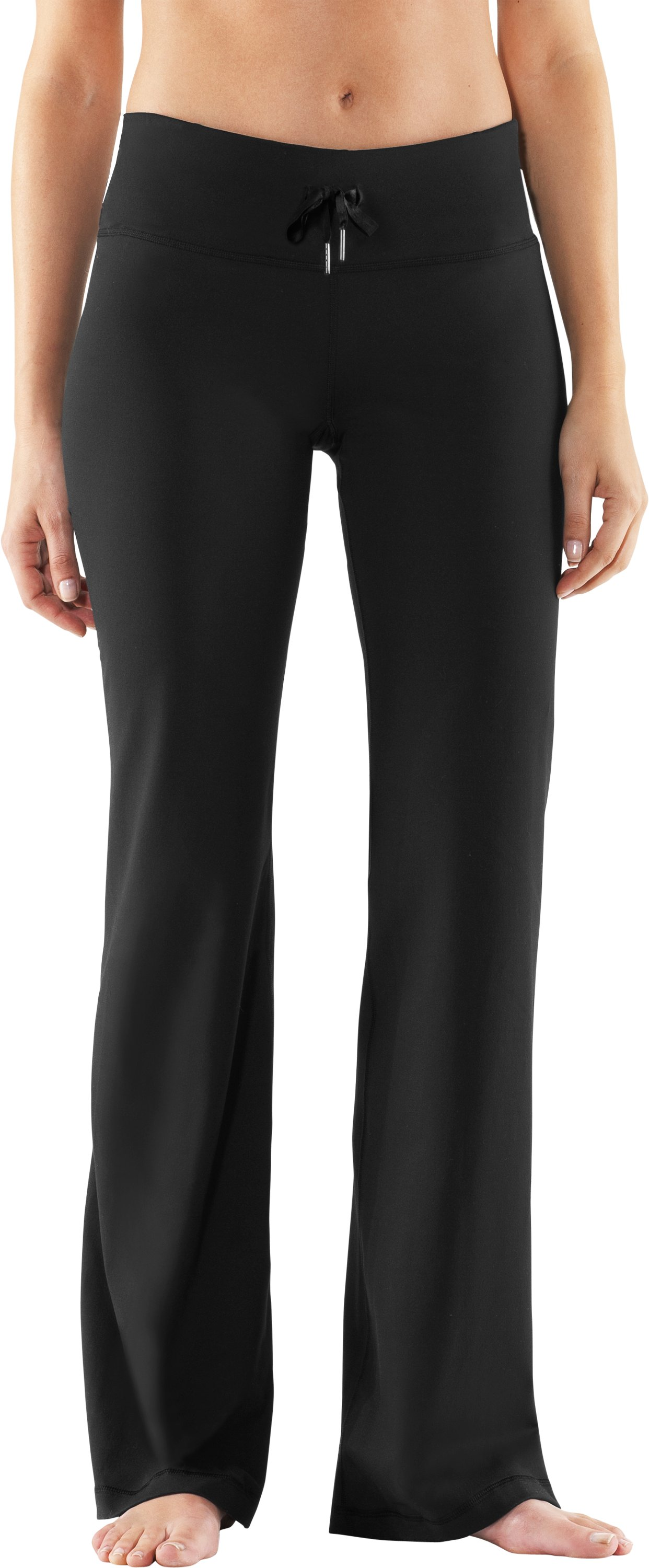 Women's UA Perfect Flow Pants, Black , zoomed image