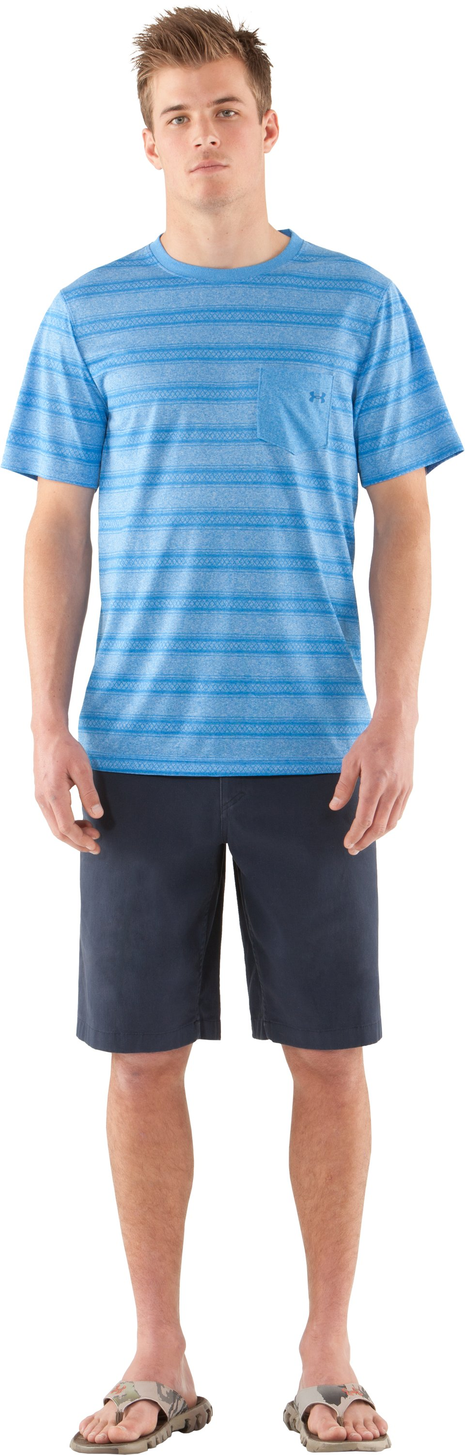 Men's UA Tech™ Push T-Shirt, STREAM, Front