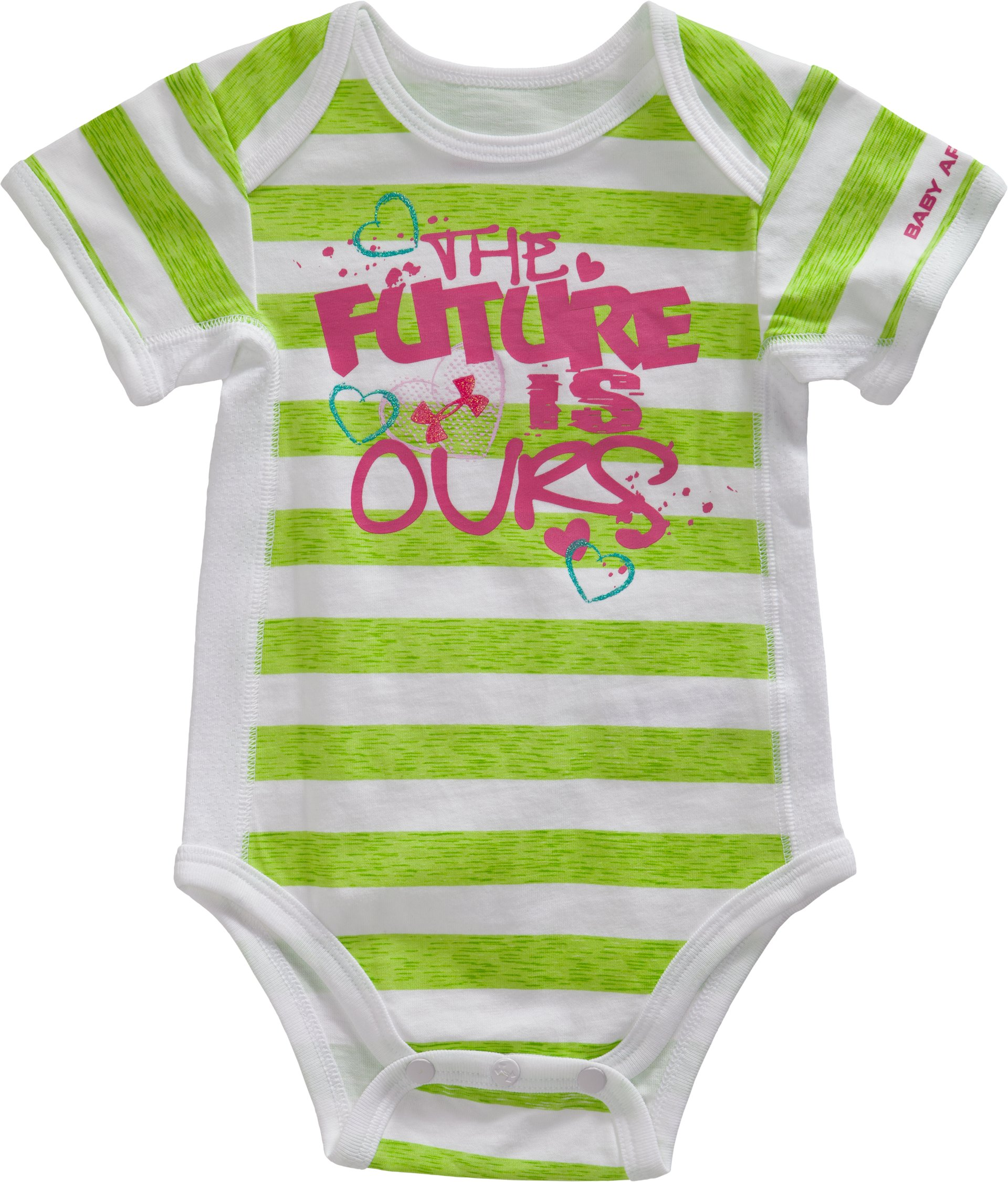 Girls' Newborn FUTURE IS OURS® Striped Bodysuit, RIP, Laydown