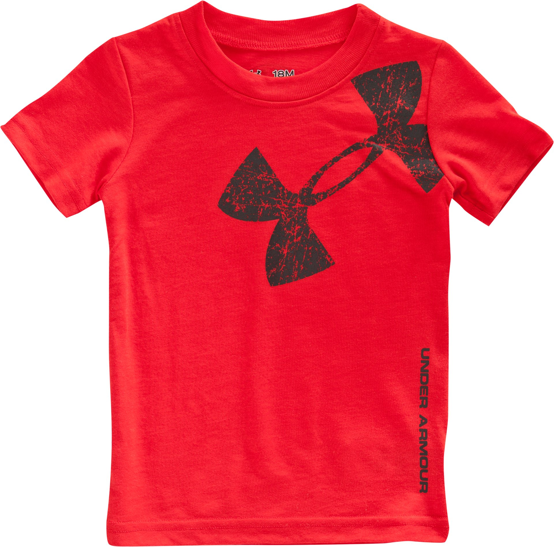 Boys' Infant UA Bigger Logo T-Shirt, Red, Laydown