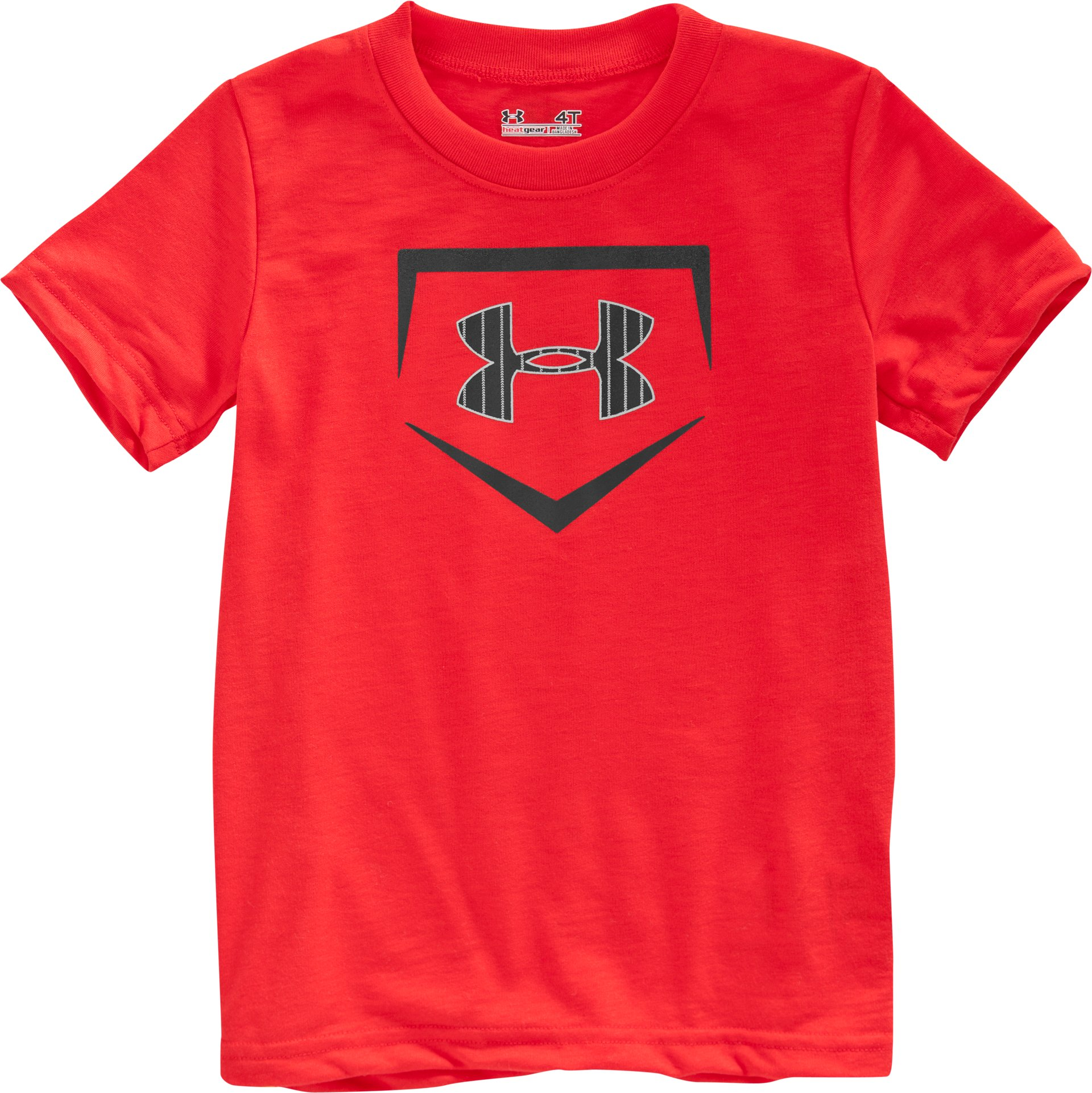 Boys' Toddler UA Home Plate T-Shirt, Red, Laydown