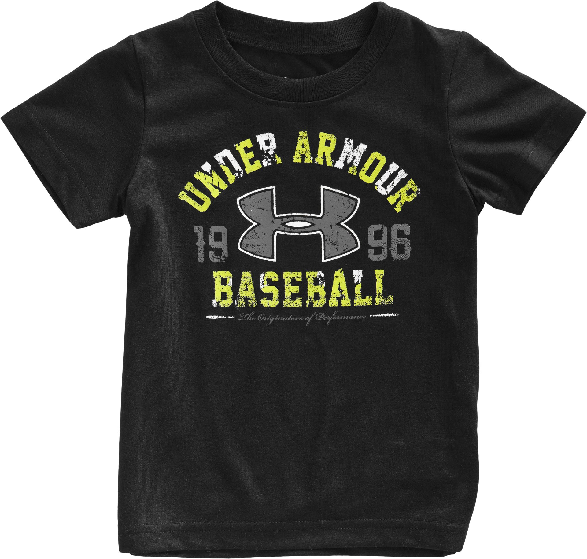 Boys' Infant UA Bases Loaded T-Shirt, Black , Laydown