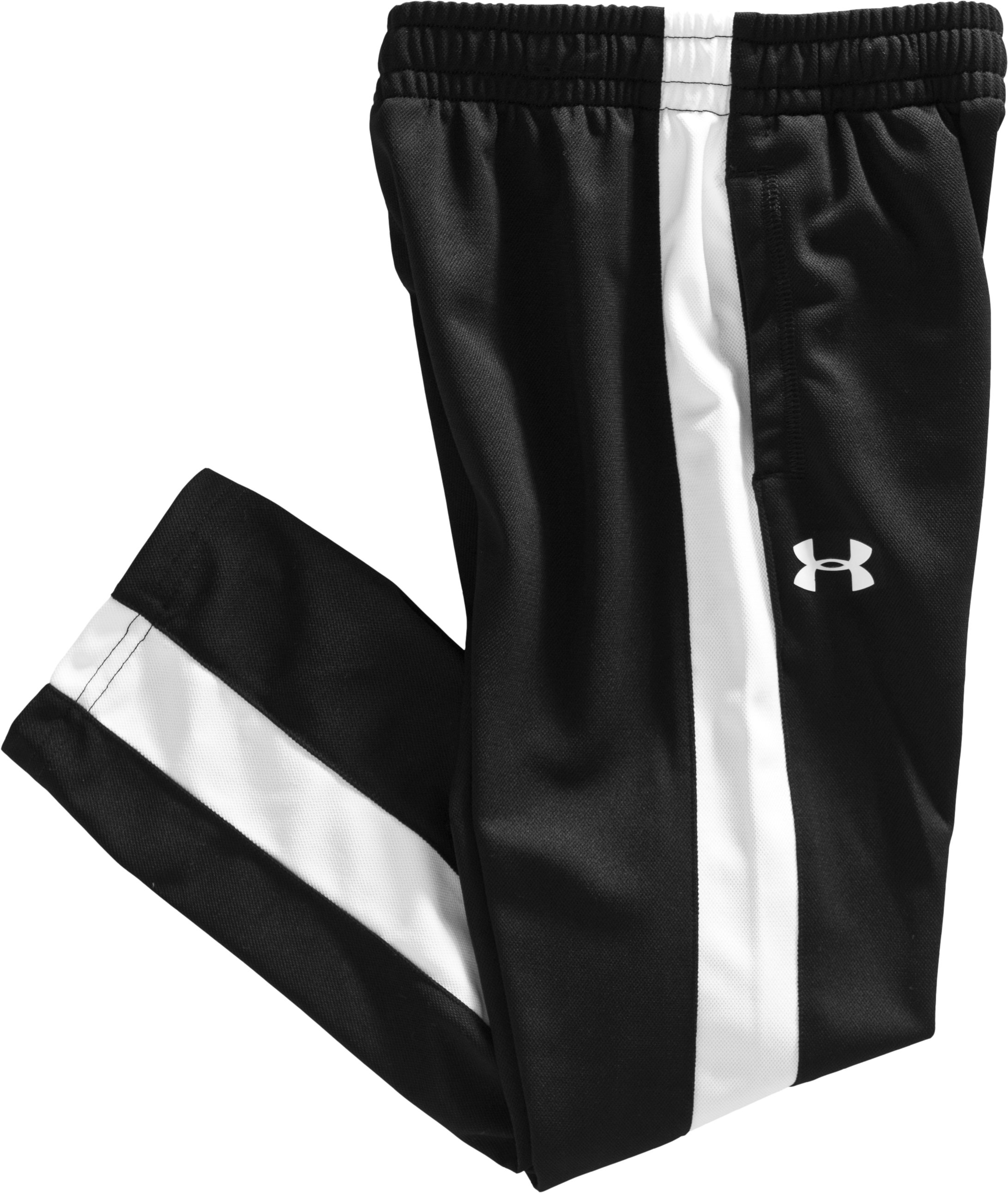Boys' Toddler UA Striker Warm-Up Pants, Black , Laydown