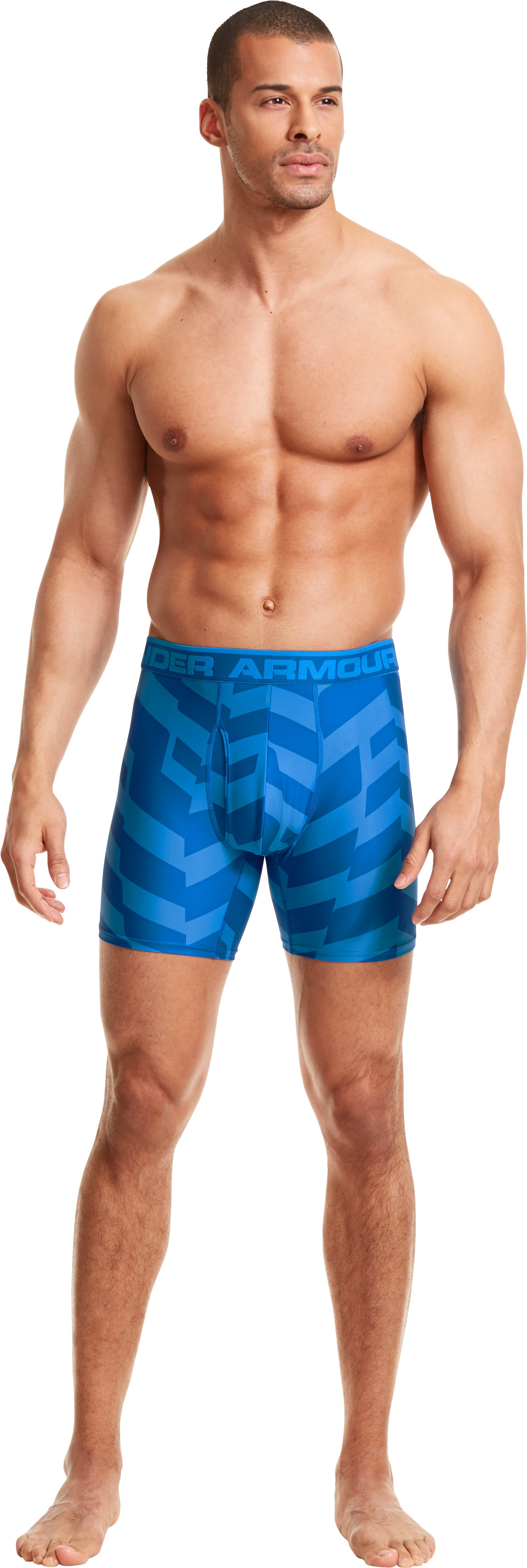 Men's UA Original Series Printed Boxerjock®, SUPERIOR BLUE, Front