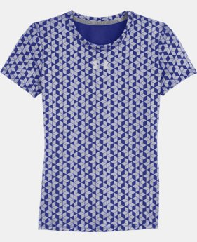 Girls' HeatGear® Sonic Printed Short Sleeve