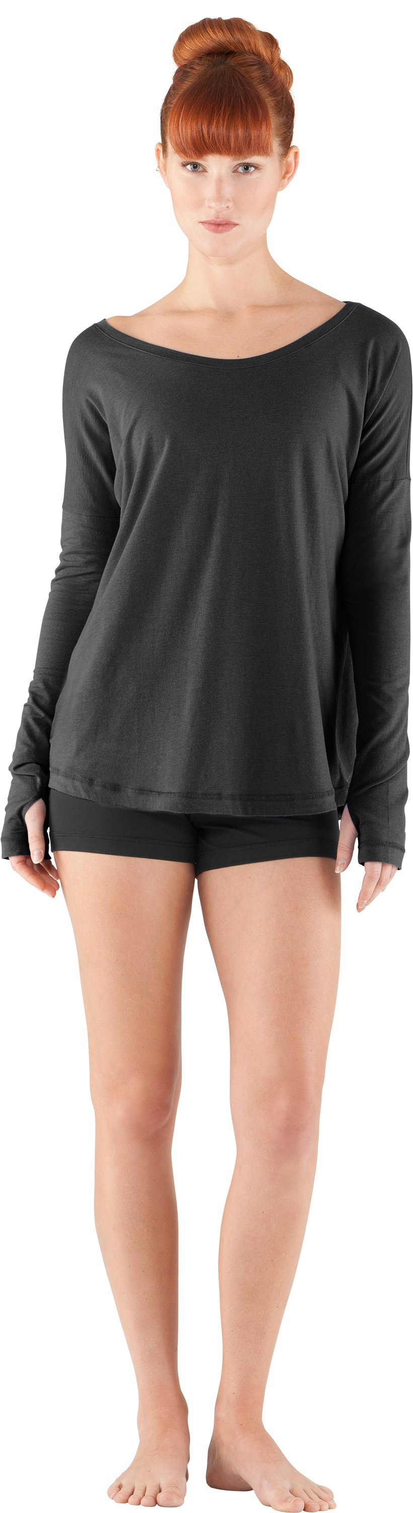 Women's UA Flow Long Sleeve, Black , Front