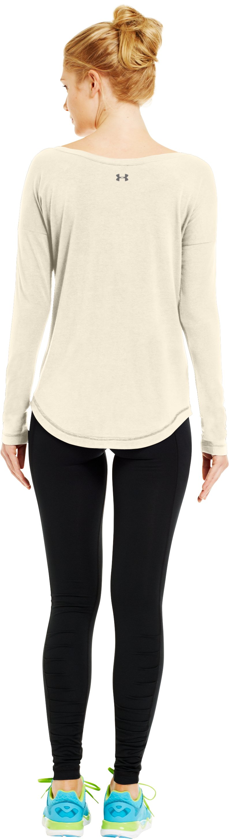 Women's UA Flow Long Sleeve, TUSK, Back