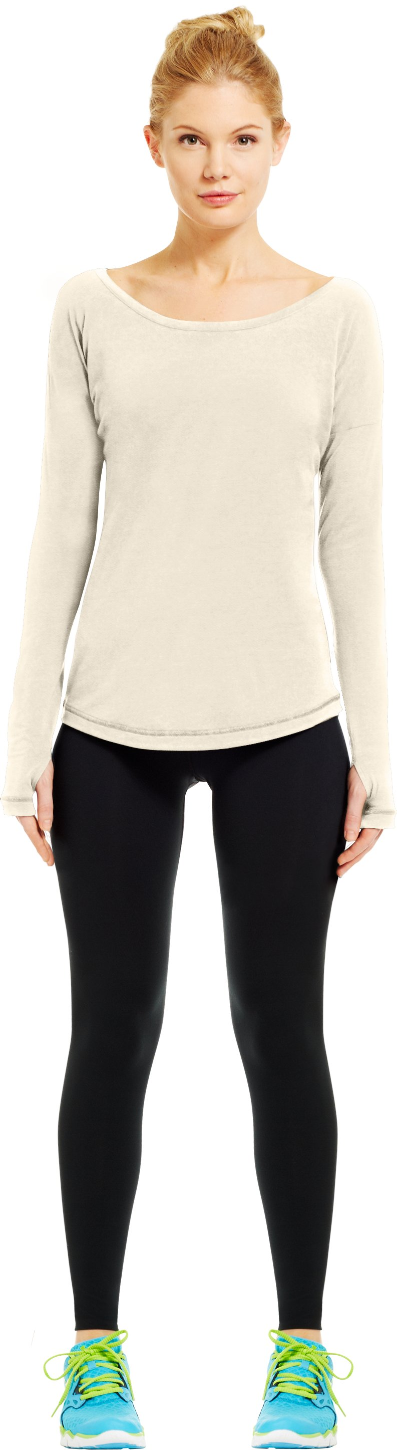 Women's UA Flow Long Sleeve, TUSK, Front