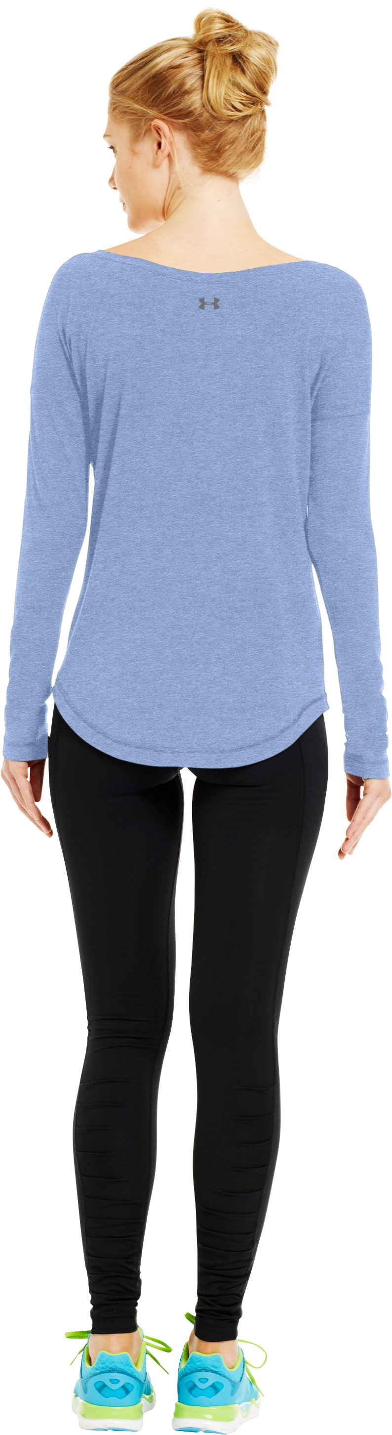Women's UA Flow Long Sleeve, BLU-AWAY, Back