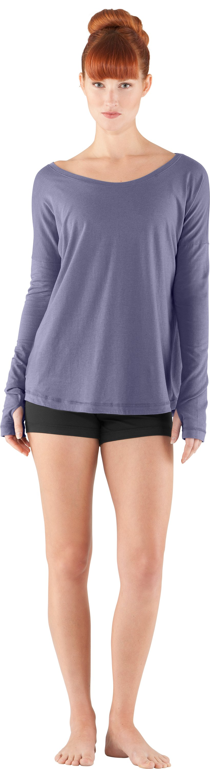 Women's UA Flow Long Sleeve, Starlight, Front
