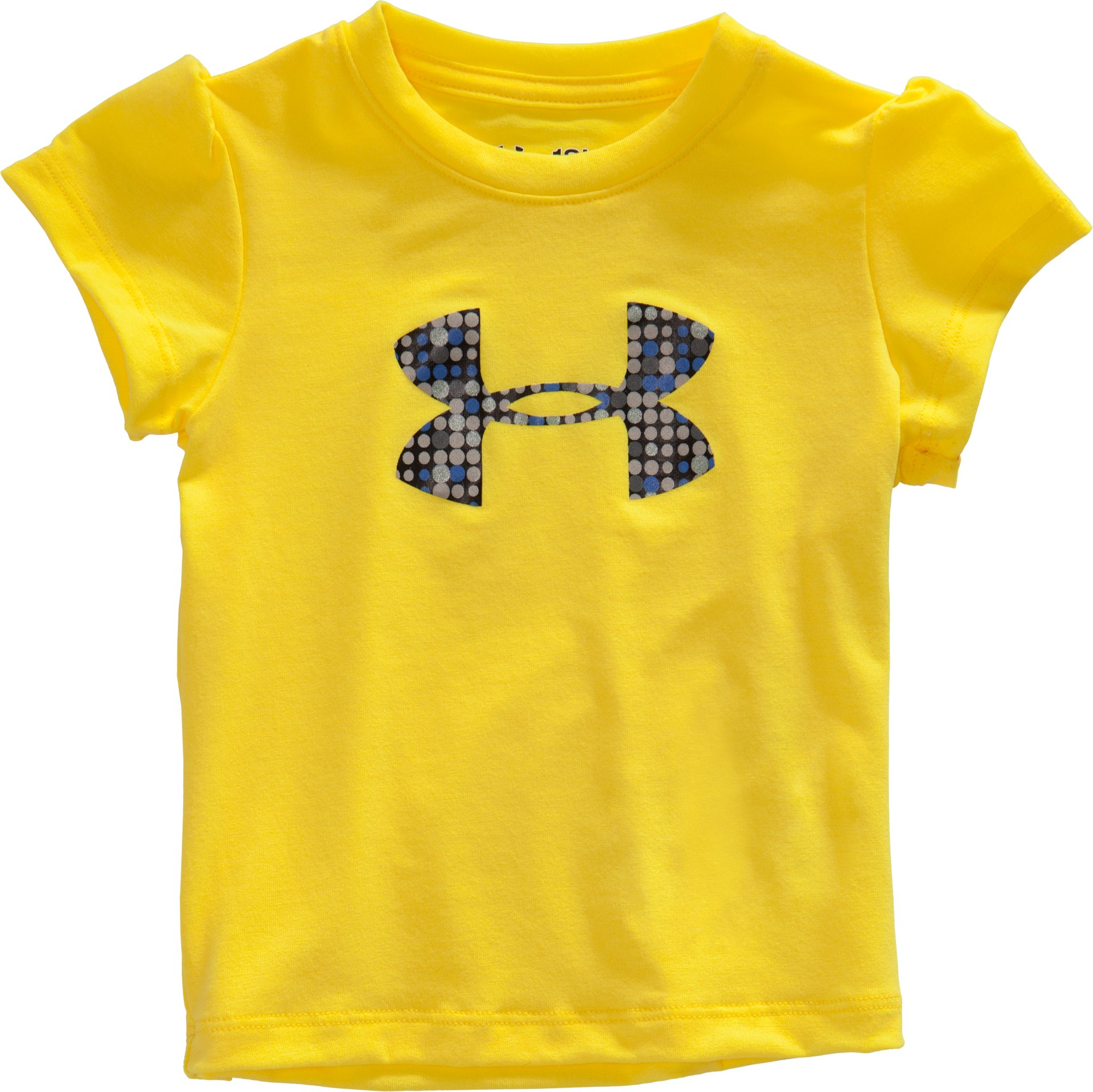 Girls' Infant UA Big Logo Dot T-Shirt, Sunbleached, zoomed image