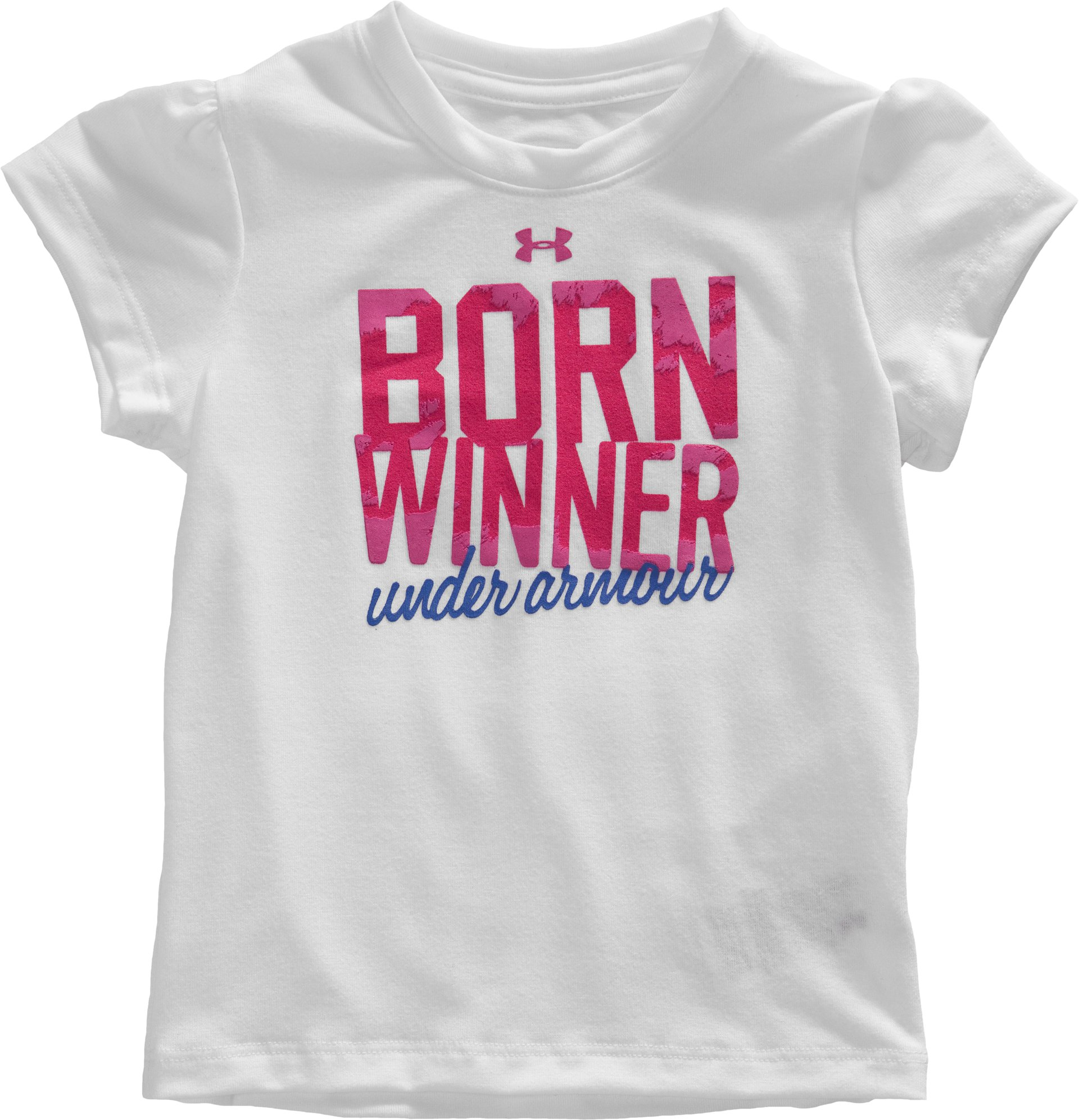 Girls' Toddler Born Winner T-Shirt, White, Laydown