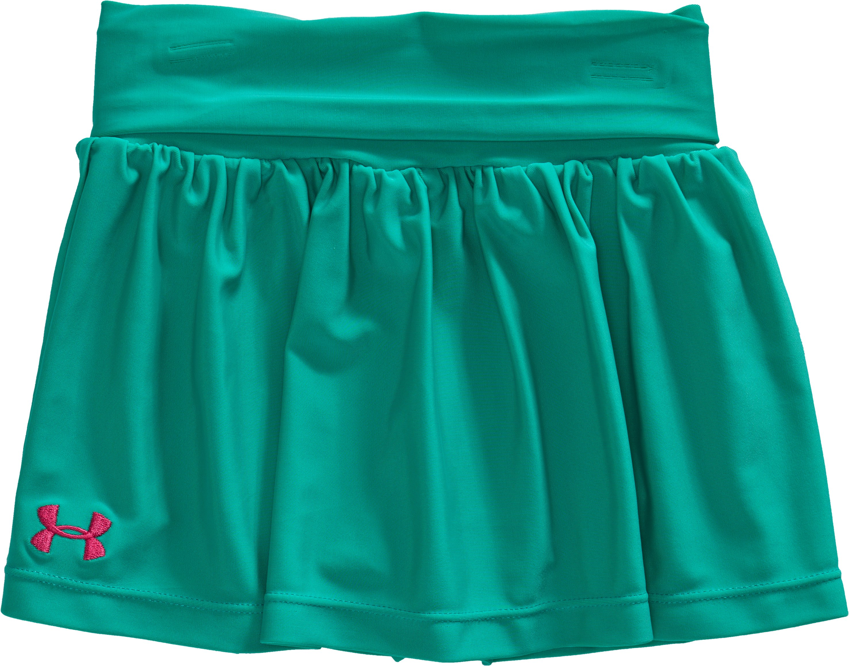 Girls' Toddler UA Playful Skort, Jade River, Laydown