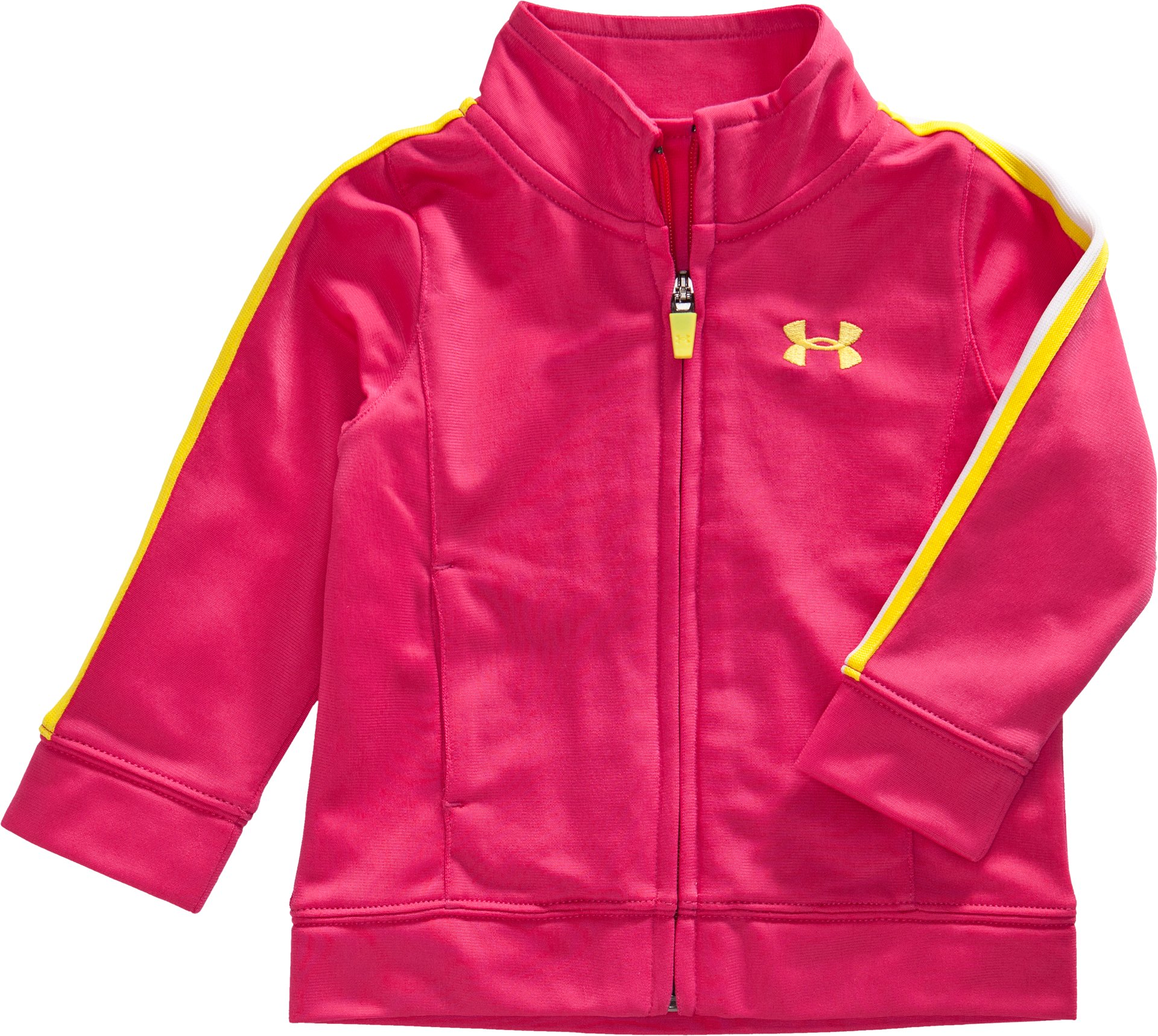 Girls' 4-7 UA Tricot Track Jacket, Gloss, zoomed image