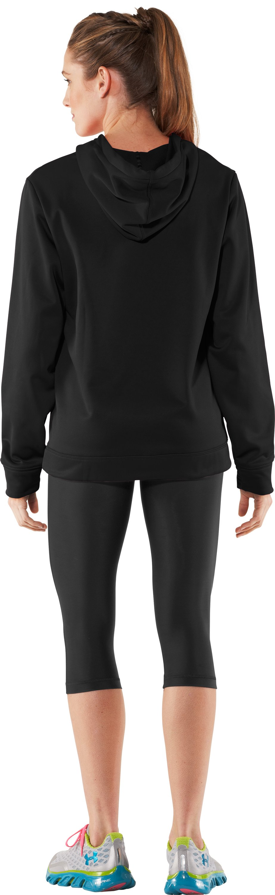 Women's UA Edge Hoodie, Black , Back