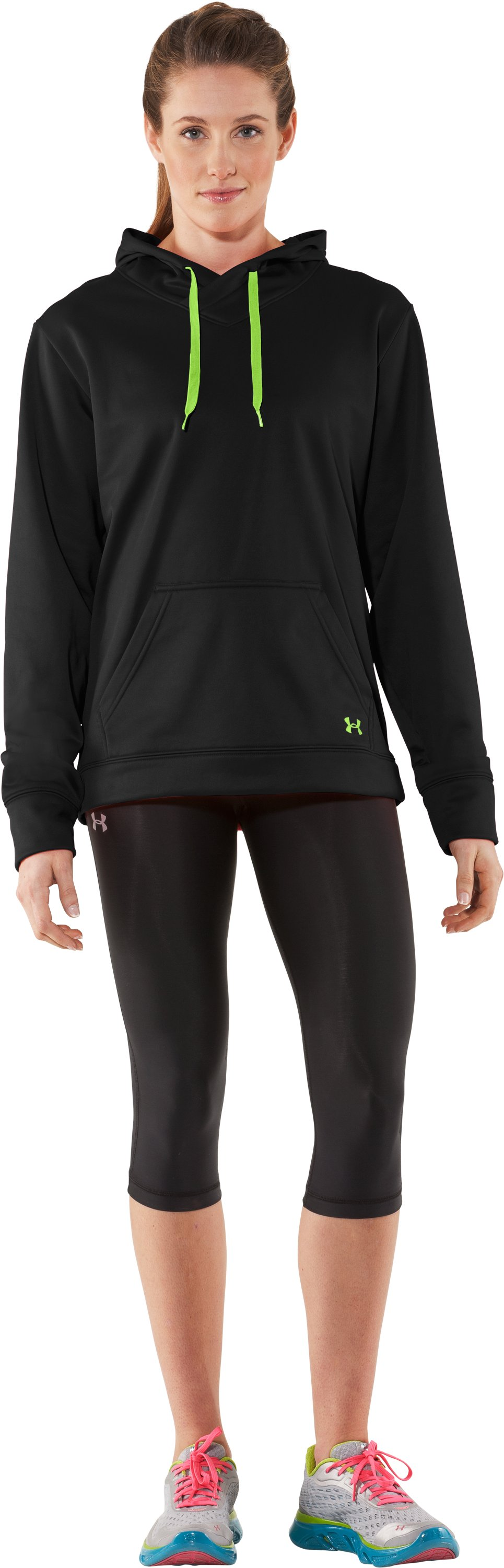 Women's UA Edge Hoodie, Black , zoomed image