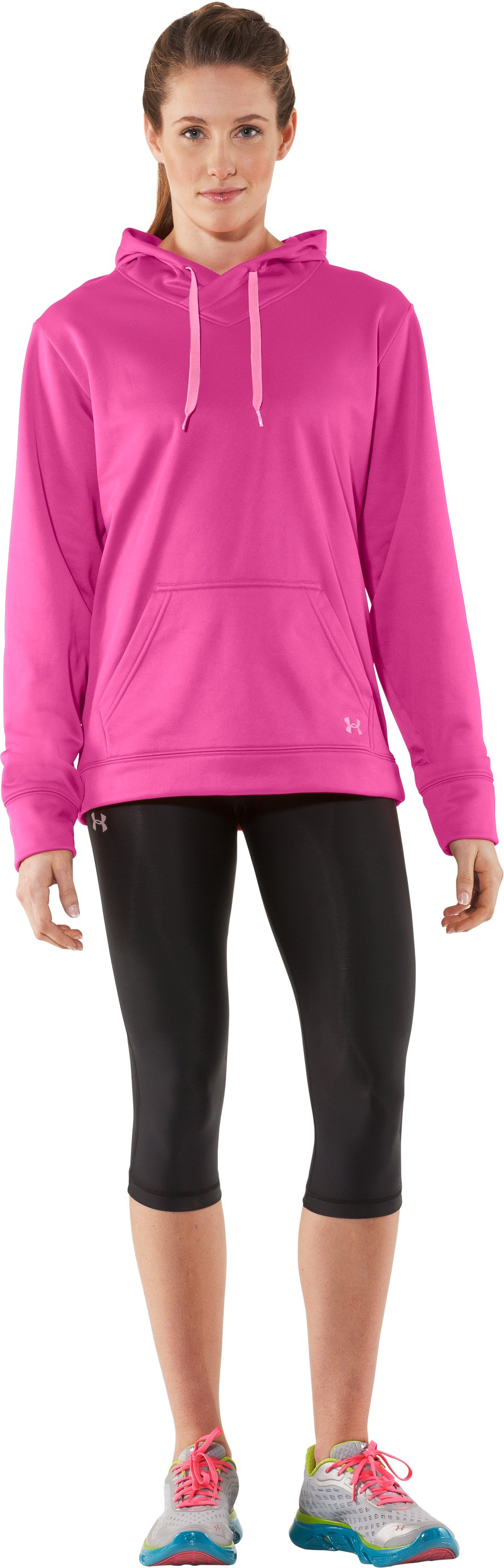 Women's UA Edge Hoodie, Playful, Front