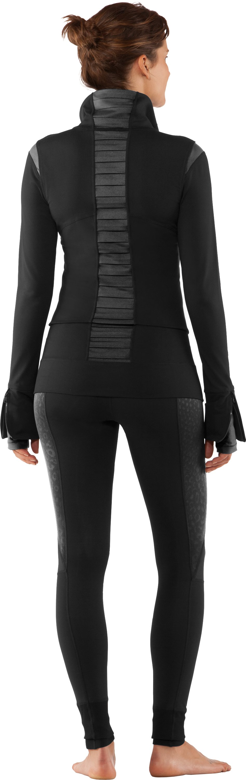 Women's UA StudioLux® Noir Jacket, Black , Back