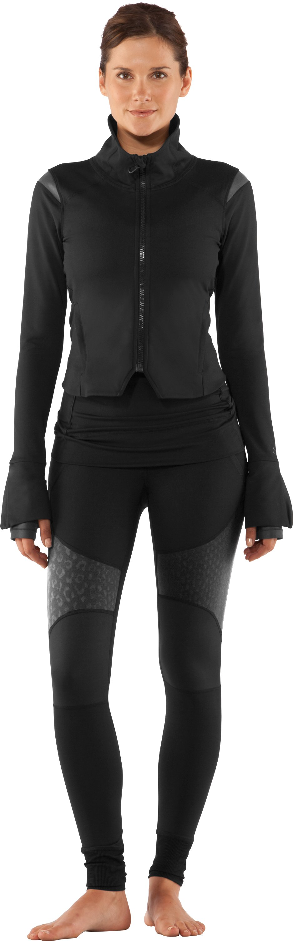 Women's UA StudioLux® Noir Jacket, Black , zoomed image