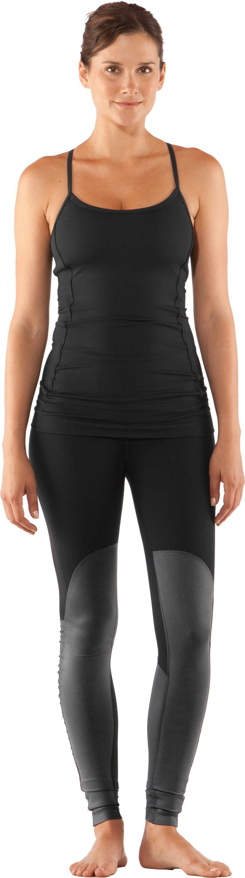 Women's UA StudioLux® Noir Moto Leggings, Black