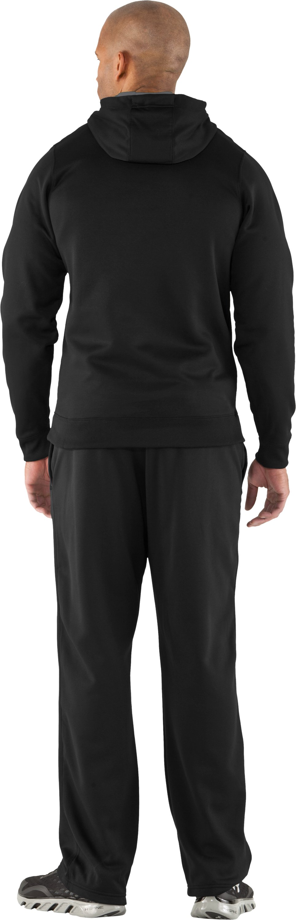 Men's Armour® Fleece 3D Logo Pants, Black , Back