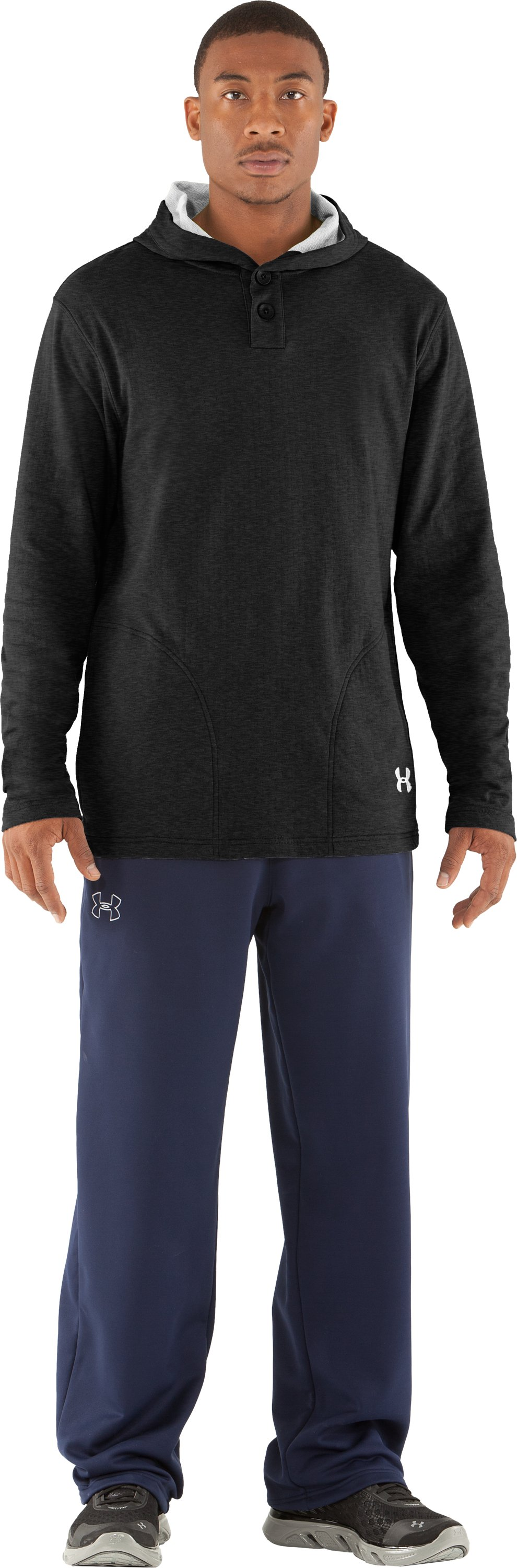 Men's UA RU Worthy Hoodie, Asphalt Heather, Front