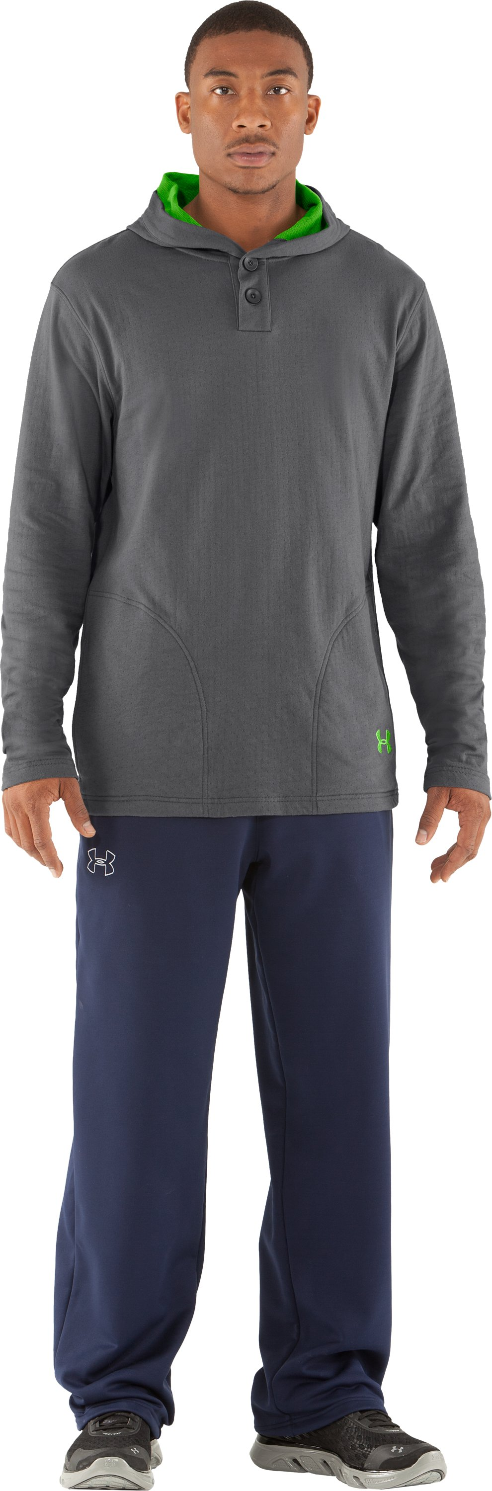 Men's UA RU Worthy Hoodie, Graphite, zoomed image