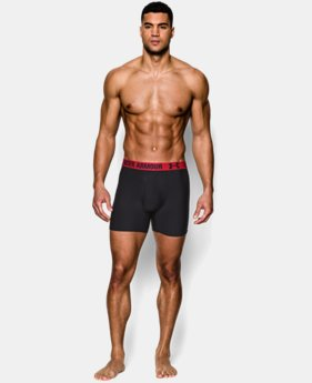 "Men's UA HeatGear® Performance 6"" Boxerjock® 2-Pack LIMITED TIME: FREE SHIPPING 2 Colors $29.99"
