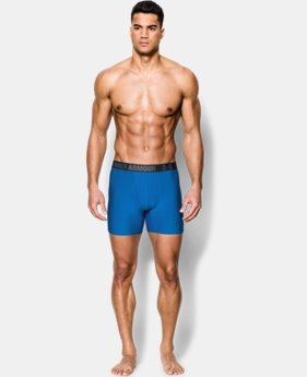 "2-Pack Men's UA HeatGear® Performance 6"" Boxerjock® 2-Pack  1 Color $26.99"