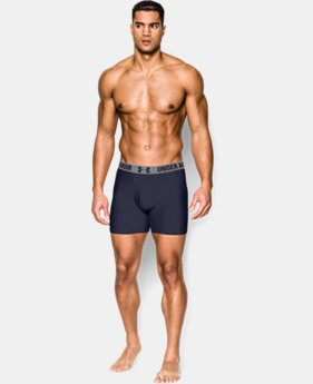 "Best Seller Men's UA HeatGear® Performance 6"" Boxerjock® 2-Pack  4 Colors $35"