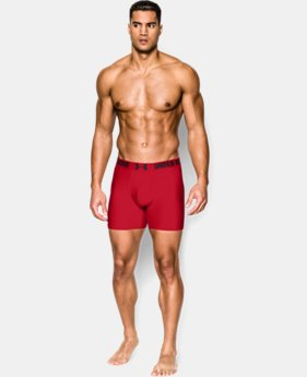 "Best Seller Men's UA HeatGear® Performance 6"" Boxerjock® 2-Pack  2 Colors $35"