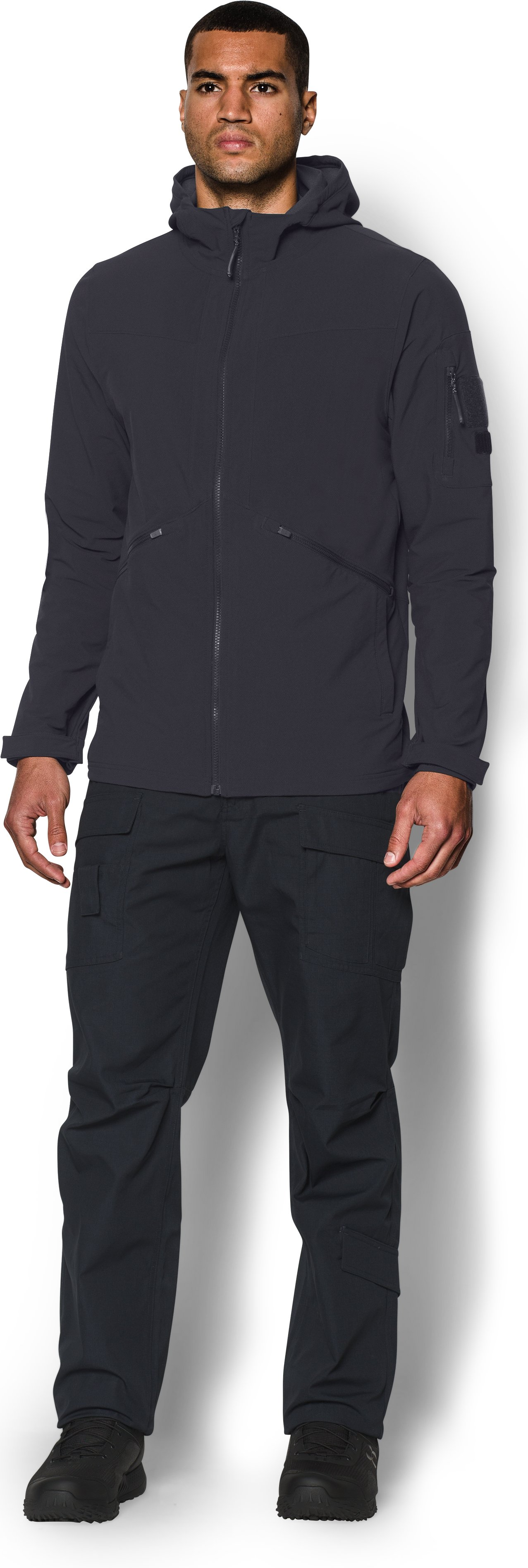 Men's UA Storm Tactical Woven Jacket, Dark Navy Blue , zoomed image