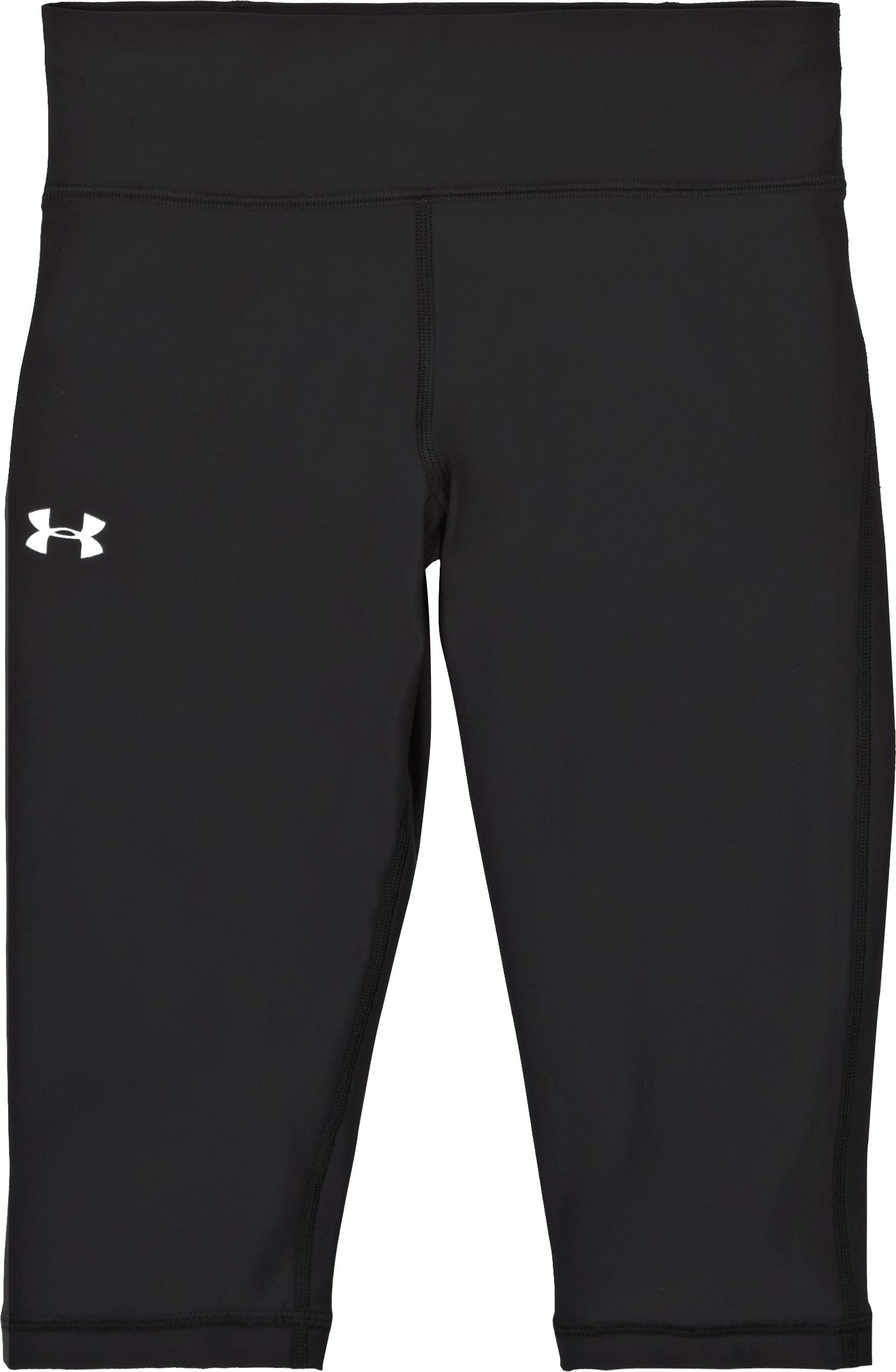"Women's UA Authentic 15"" Capri, Black , Laydown"