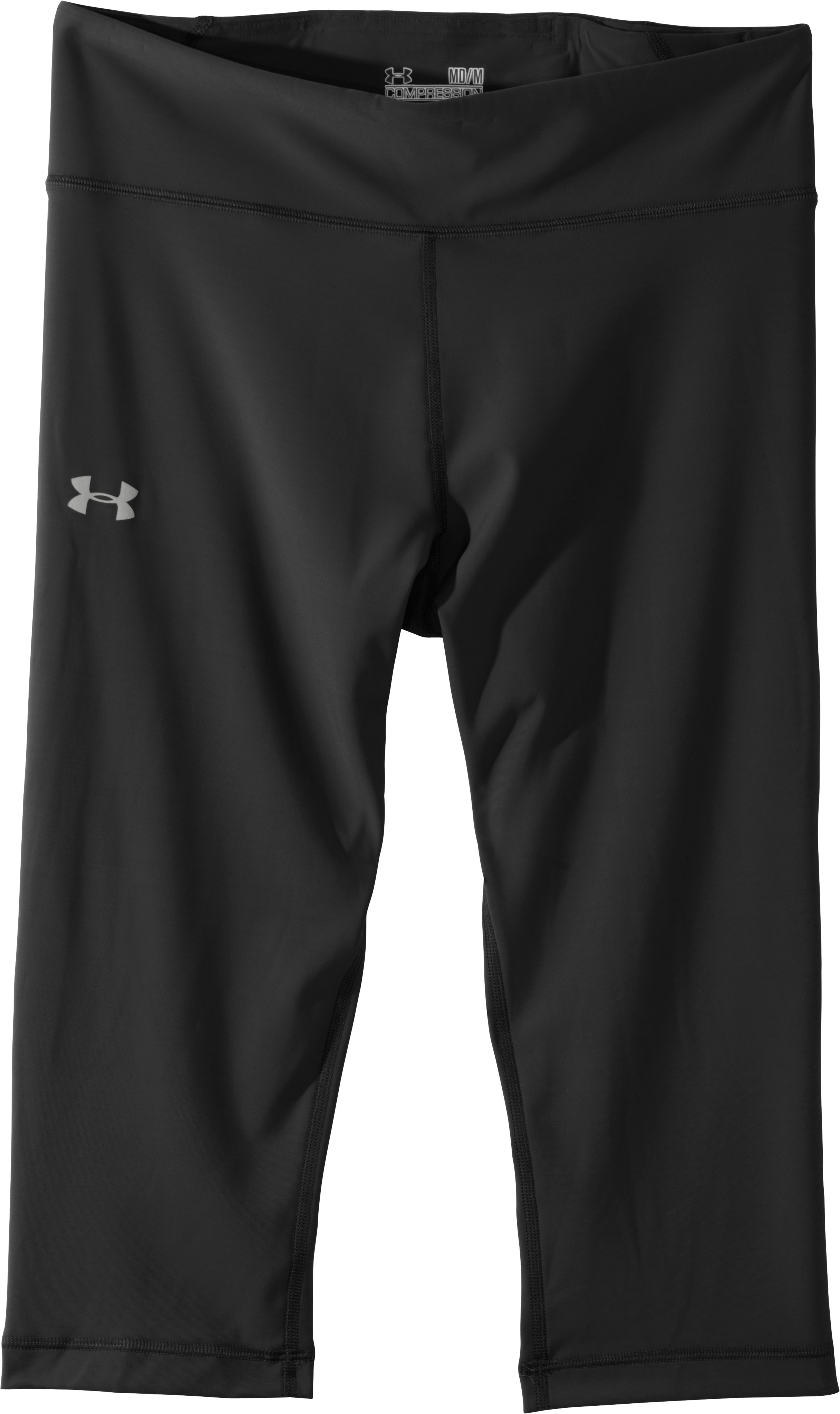 "Women's UA Authentic 17"" Capri, Black , Laydown"