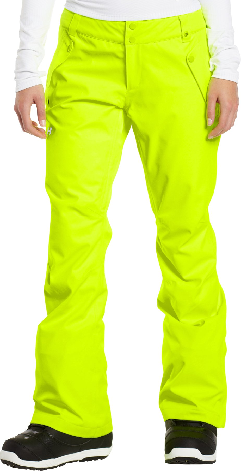 Women's ColdGear® Infrared Fader Pant, High-Vis Yellow, zoomed image