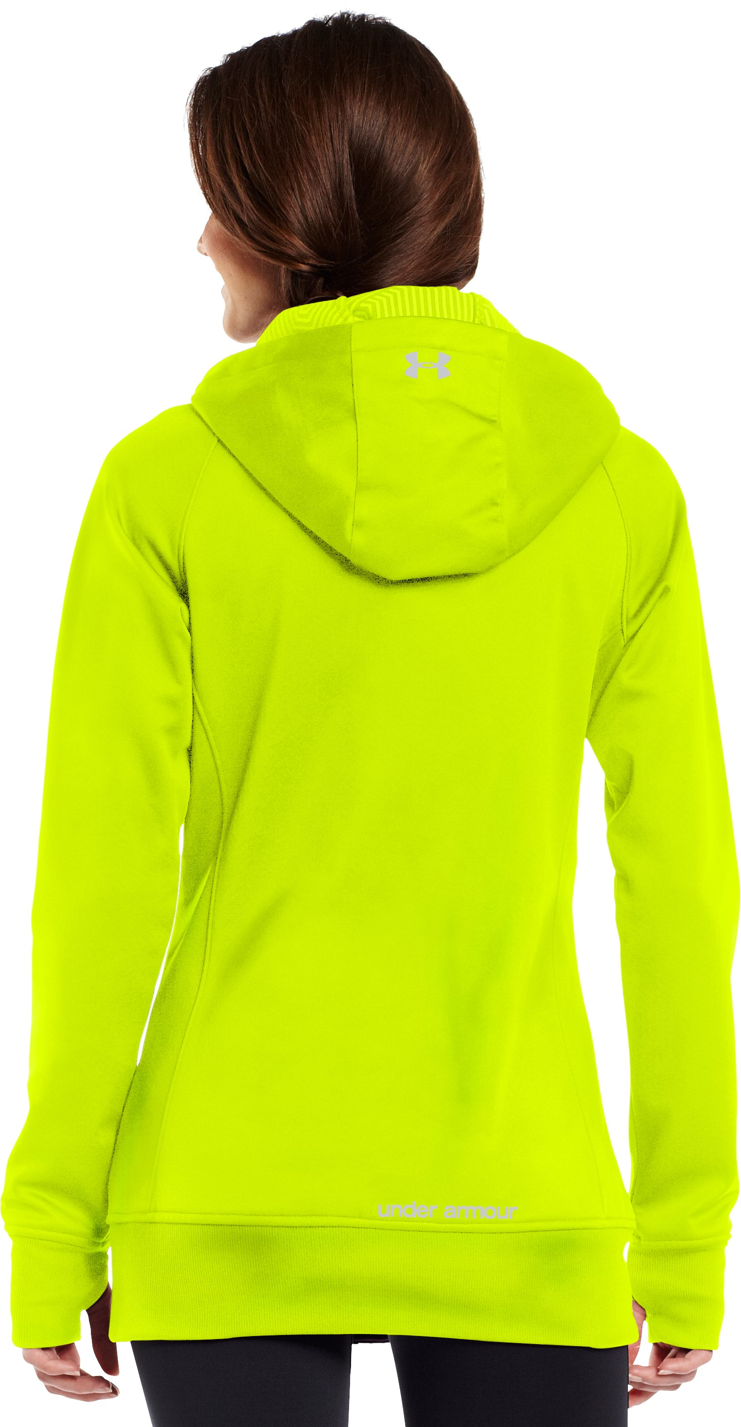Women's ColdGear® Infrared Softershell, High-Vis Yellow, Back