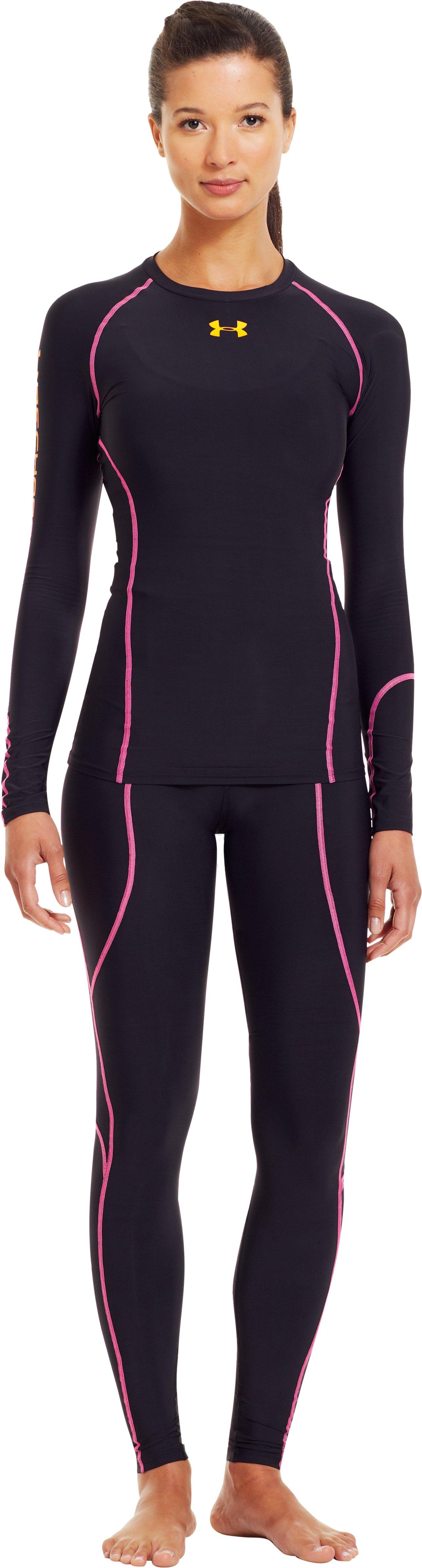 Women's UA Recharge® Long Sleeve, Black , Front