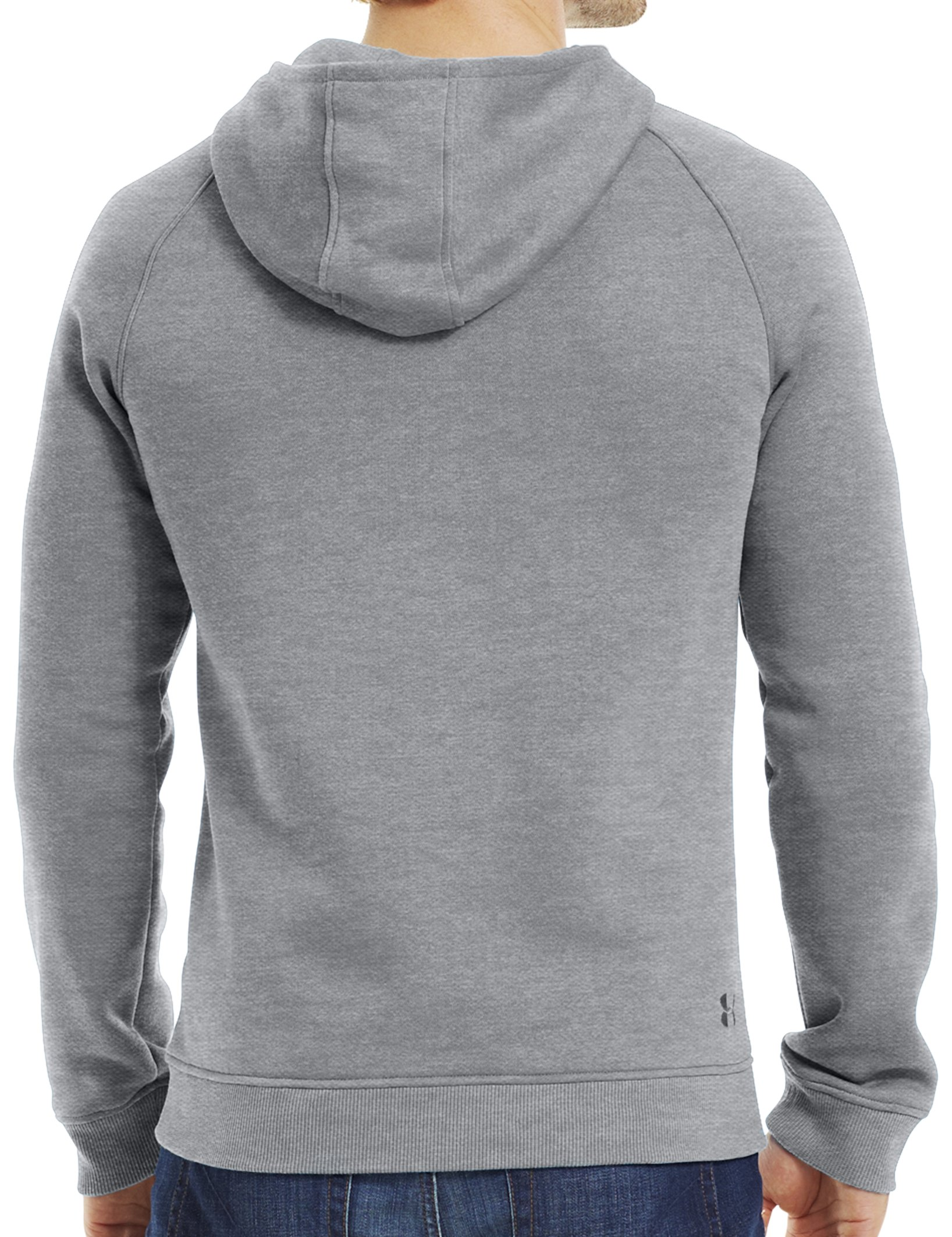 Men's Charged Cotton® Storm MTN Hoodie, True Gray Heather, Back