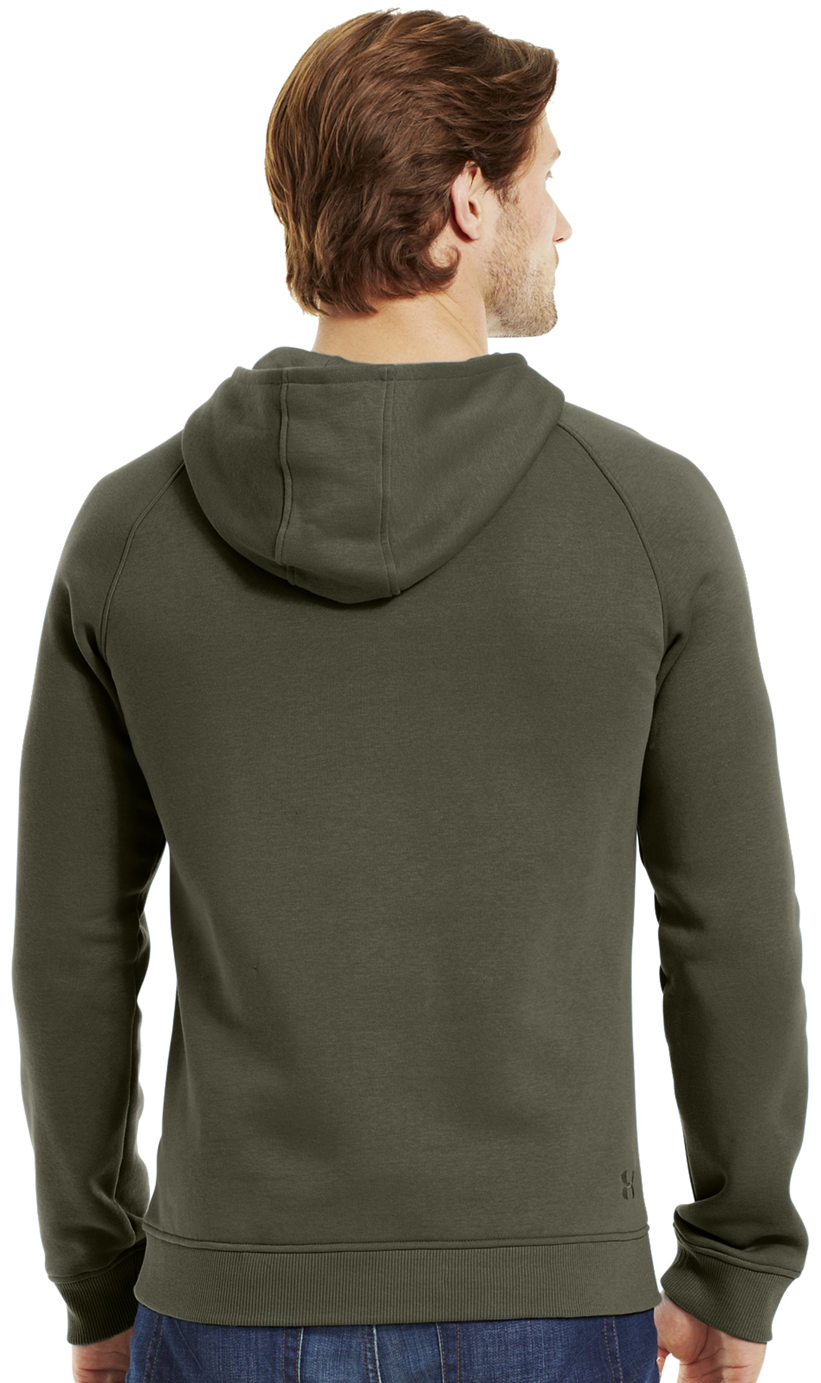 Men's Charged Cotton® Storm MTN Hoodie, GREENHEAD, Back