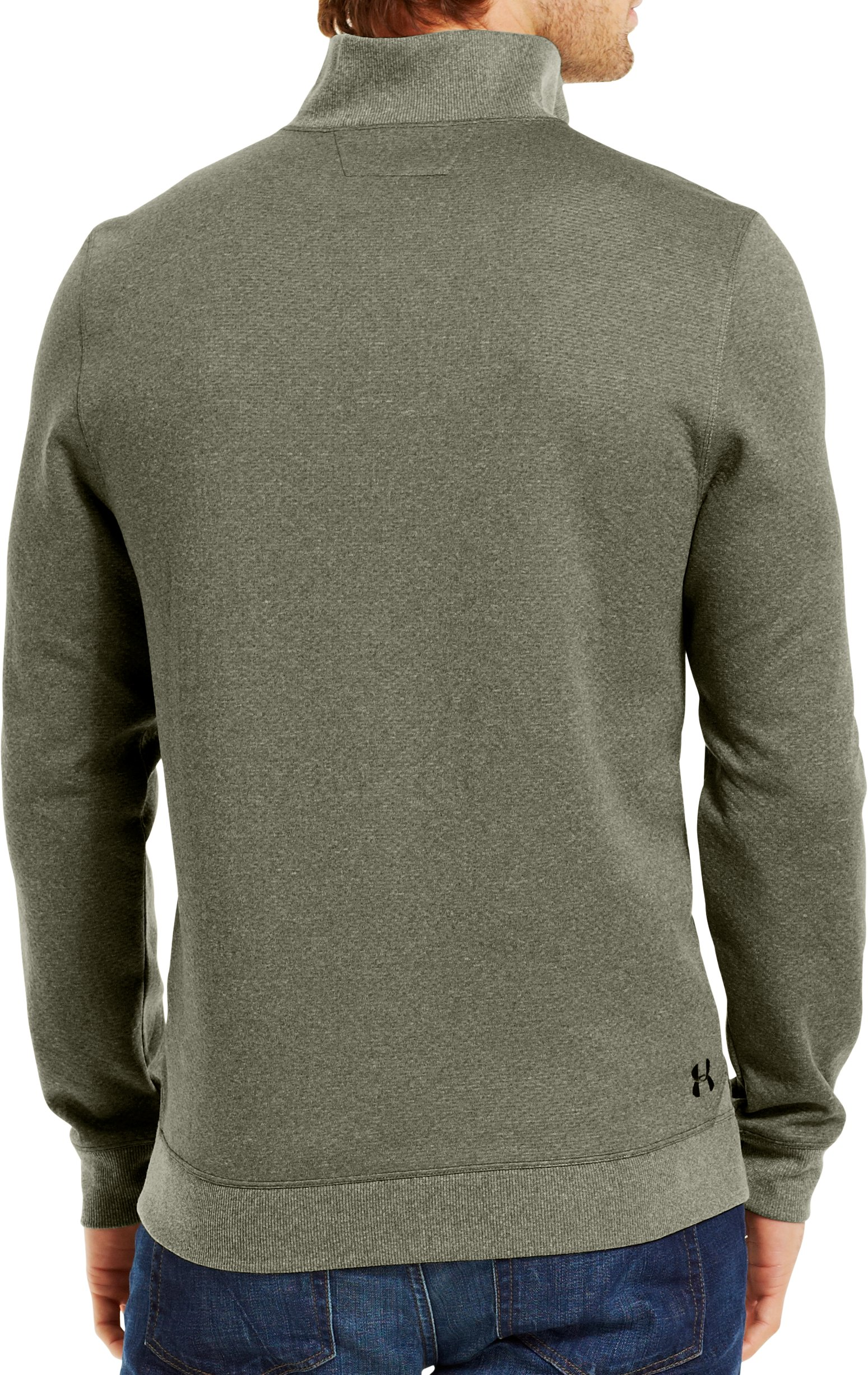 Men's ColdGear® Infrared UA Tech™ Fleece ¼ Zip, GREENHEAD, Back