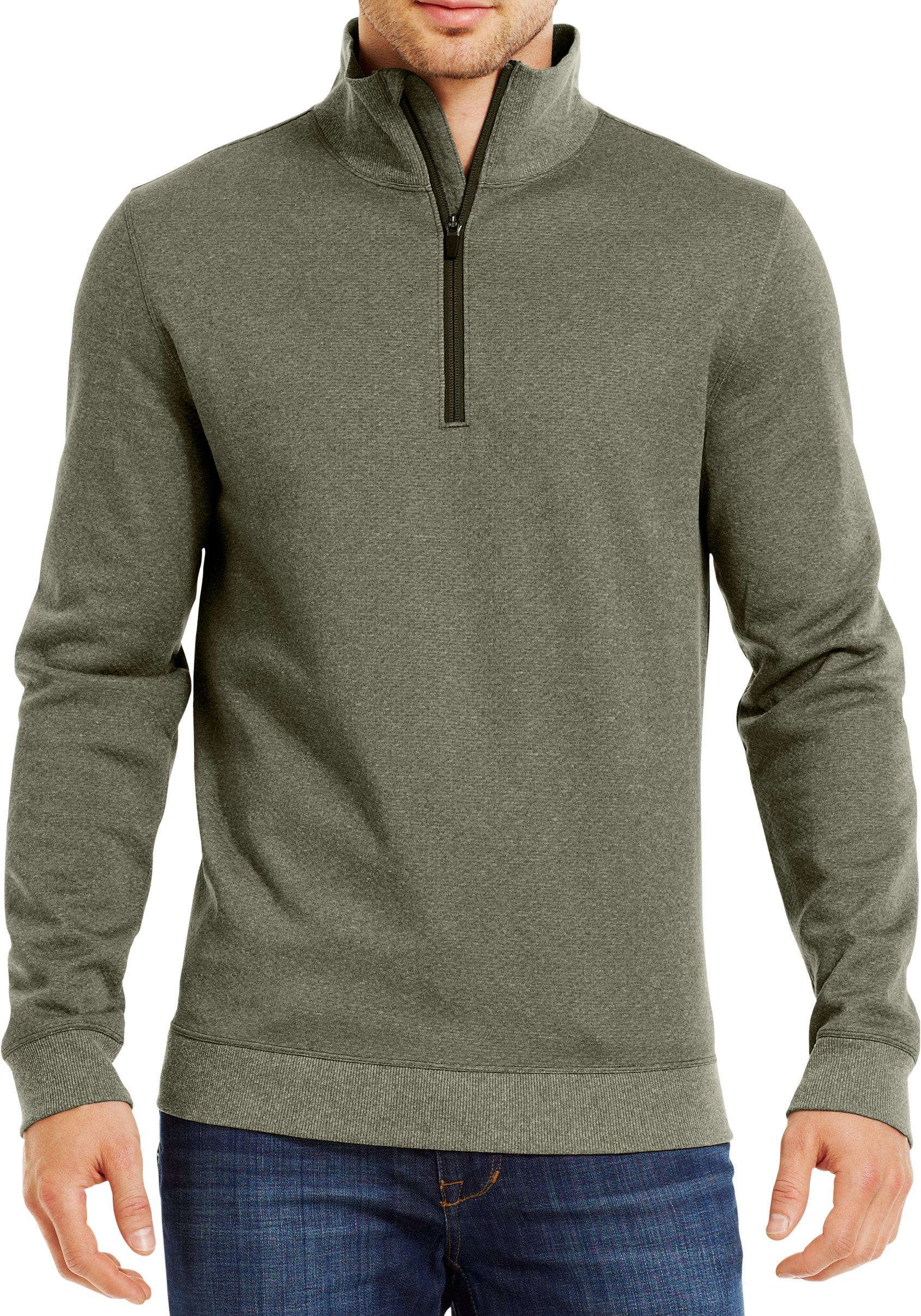 Men's ColdGear® Infrared UA Tech™ Fleece ¼ Zip, GREENHEAD, Front