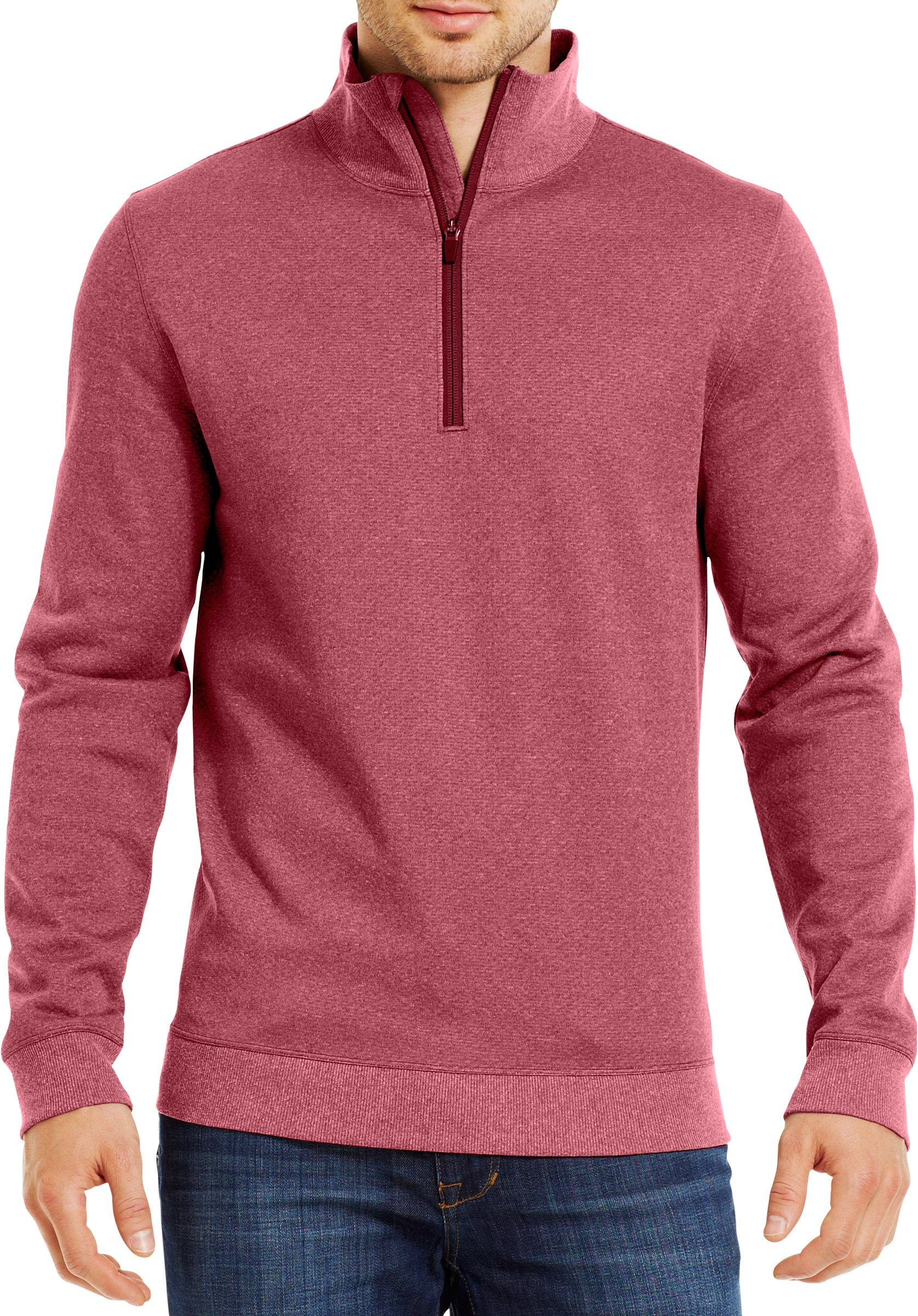 Men's ColdGear® Infrared UA Tech™ Fleece ¼ Zip, CORDOVA, Front