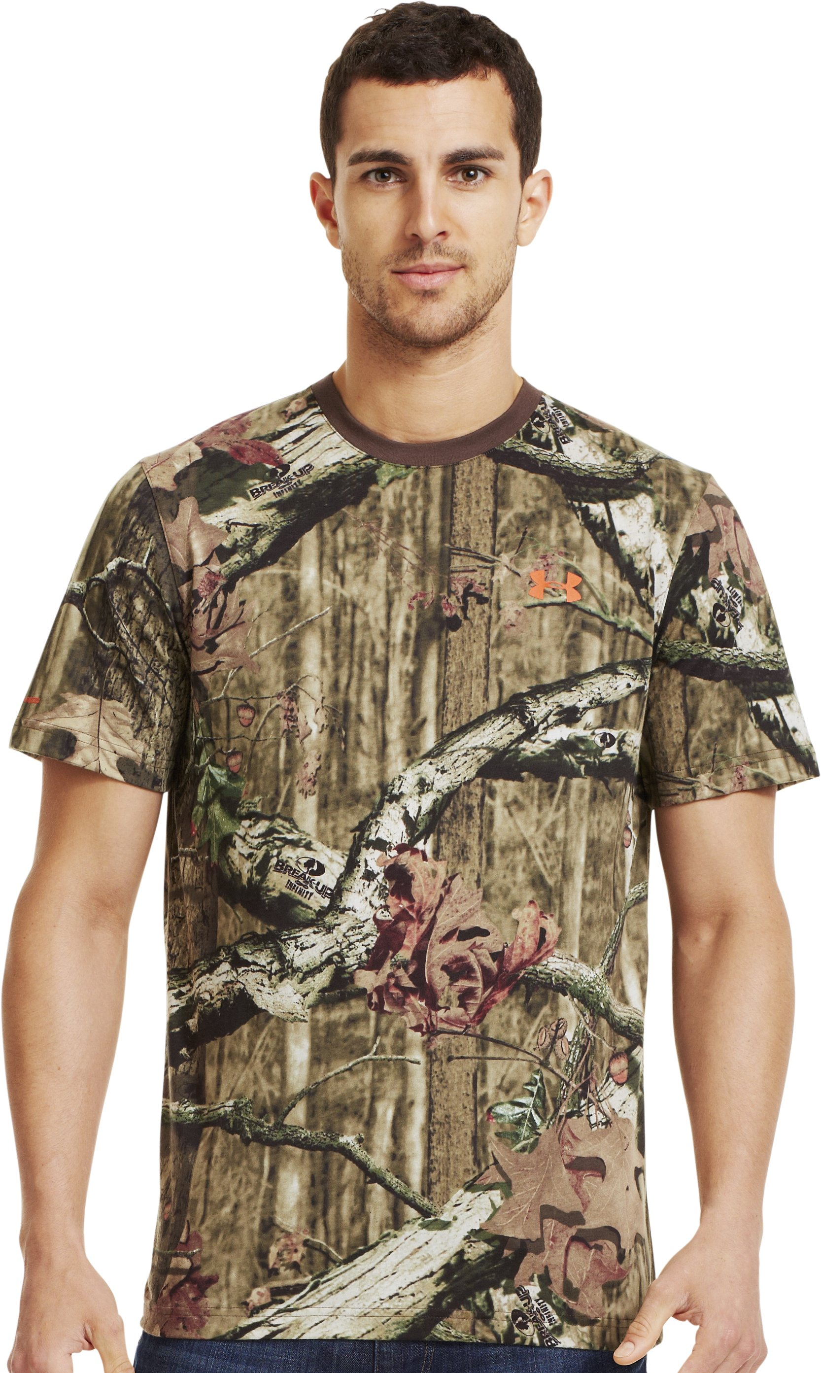 Men's Charged Cotton® Camo Short Sleeve T-Shirt, Mossy Oak Break-Up Infinity, zoomed image