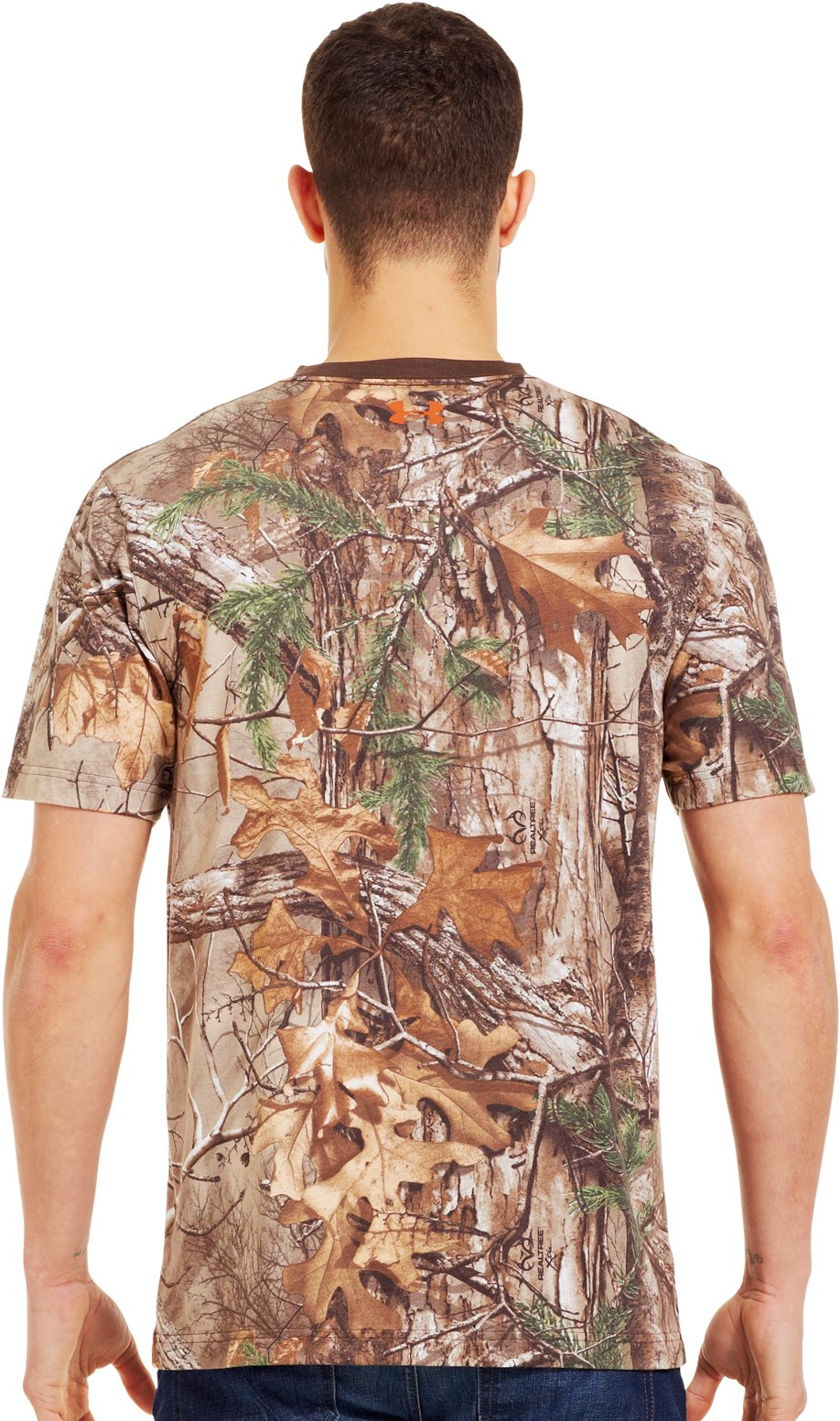 Men's Charged Cotton® Camo Short Sleeve T-Shirt, REALTREE AP-XTRA, Back