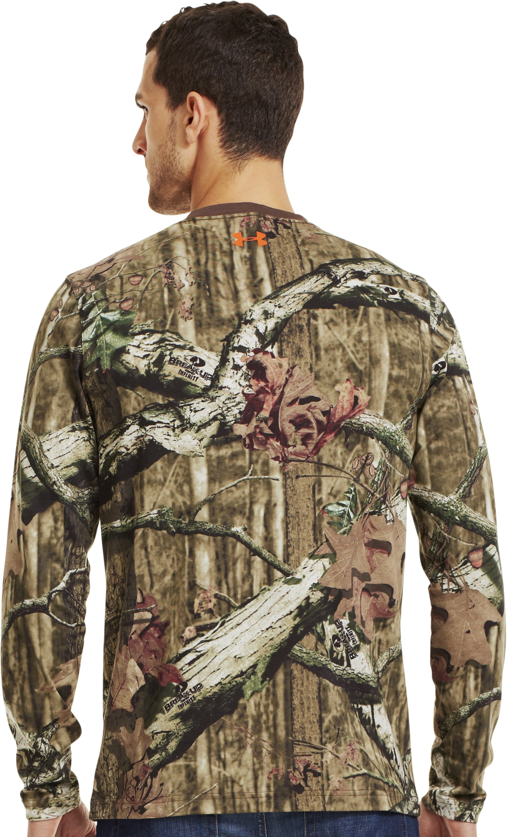 Men's Charged Cotton® Camo Long Sleeve T-Shirt, Mossy Oak Break-Up Infinity, Back