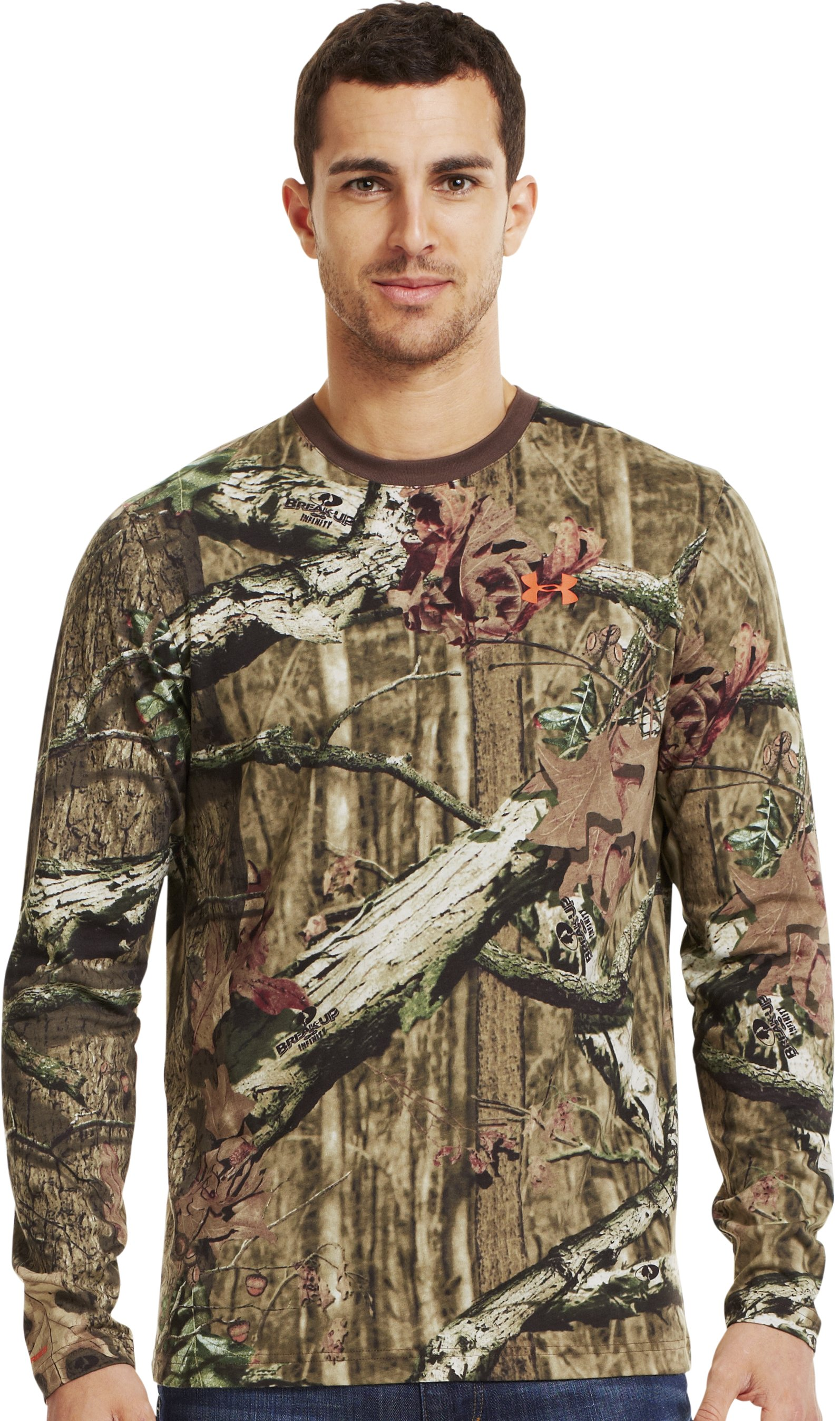 Men's Charged Cotton® Camo Long Sleeve T-Shirt, Mossy Oak Break-Up Infinity, Front