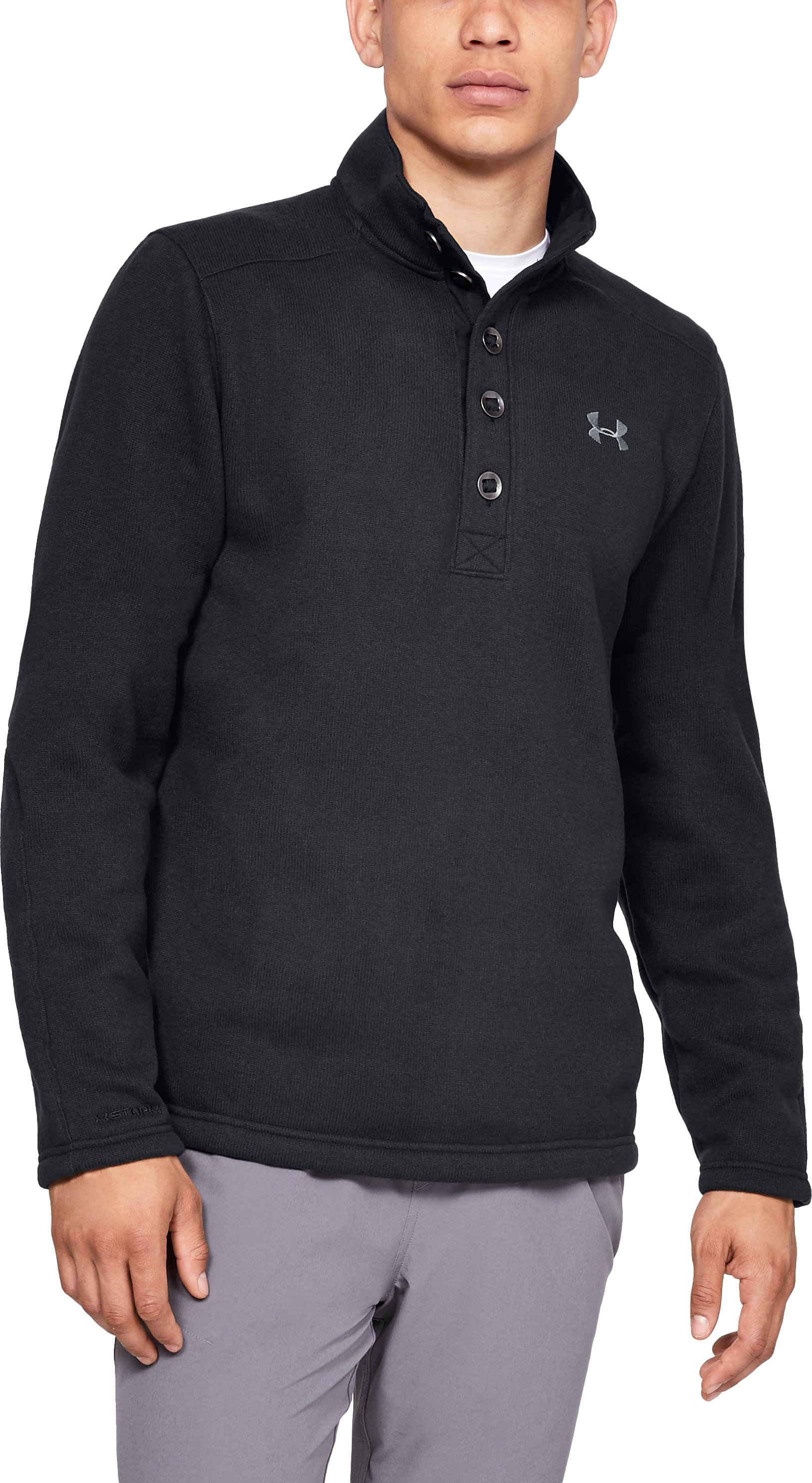 small sweaters Men's UA Storm Specialist Sweater Great purchase....Got the medium and I absolutely LOVE it!!!...Great look and feel.