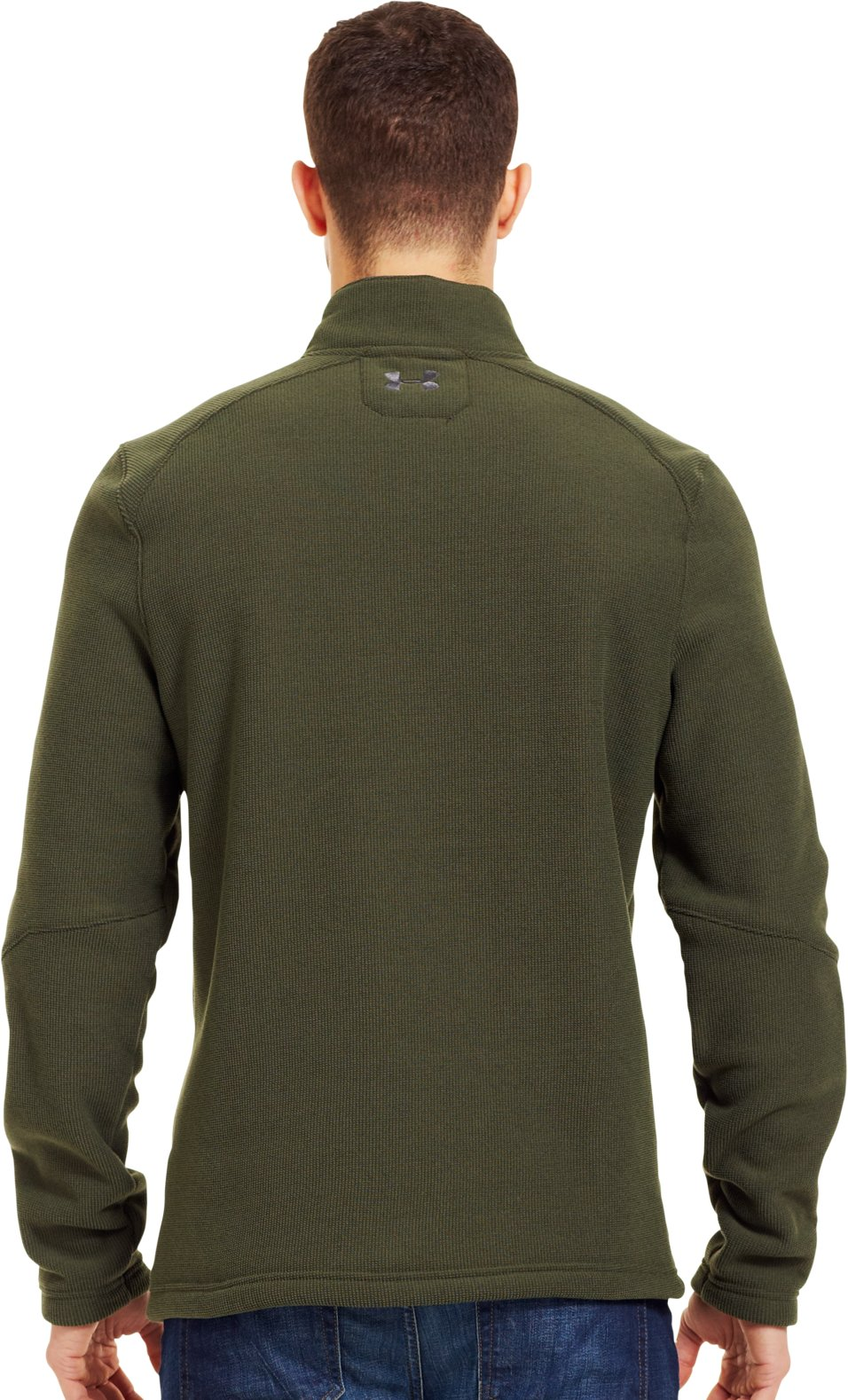 Men's UA Specialist ¼ Zip, Rifle Green, Back